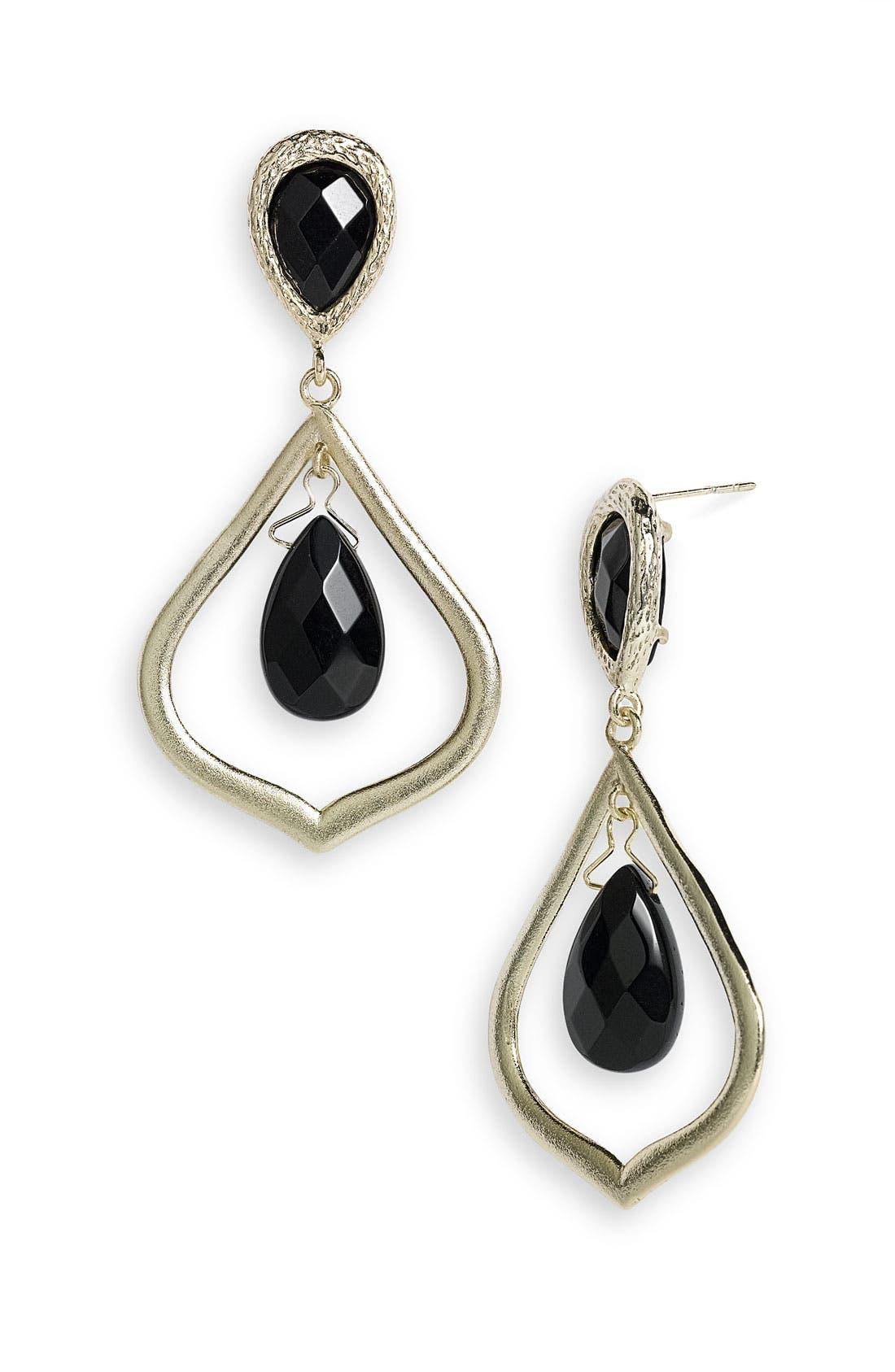 Main Image - Kendra Scott 'Ryanne' Open Teardrop Statement Earrings