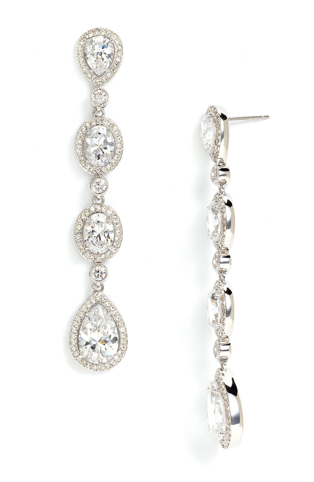 Alternate Image 1 Selected - Nadri Framed Cubic Zirconia Earrings