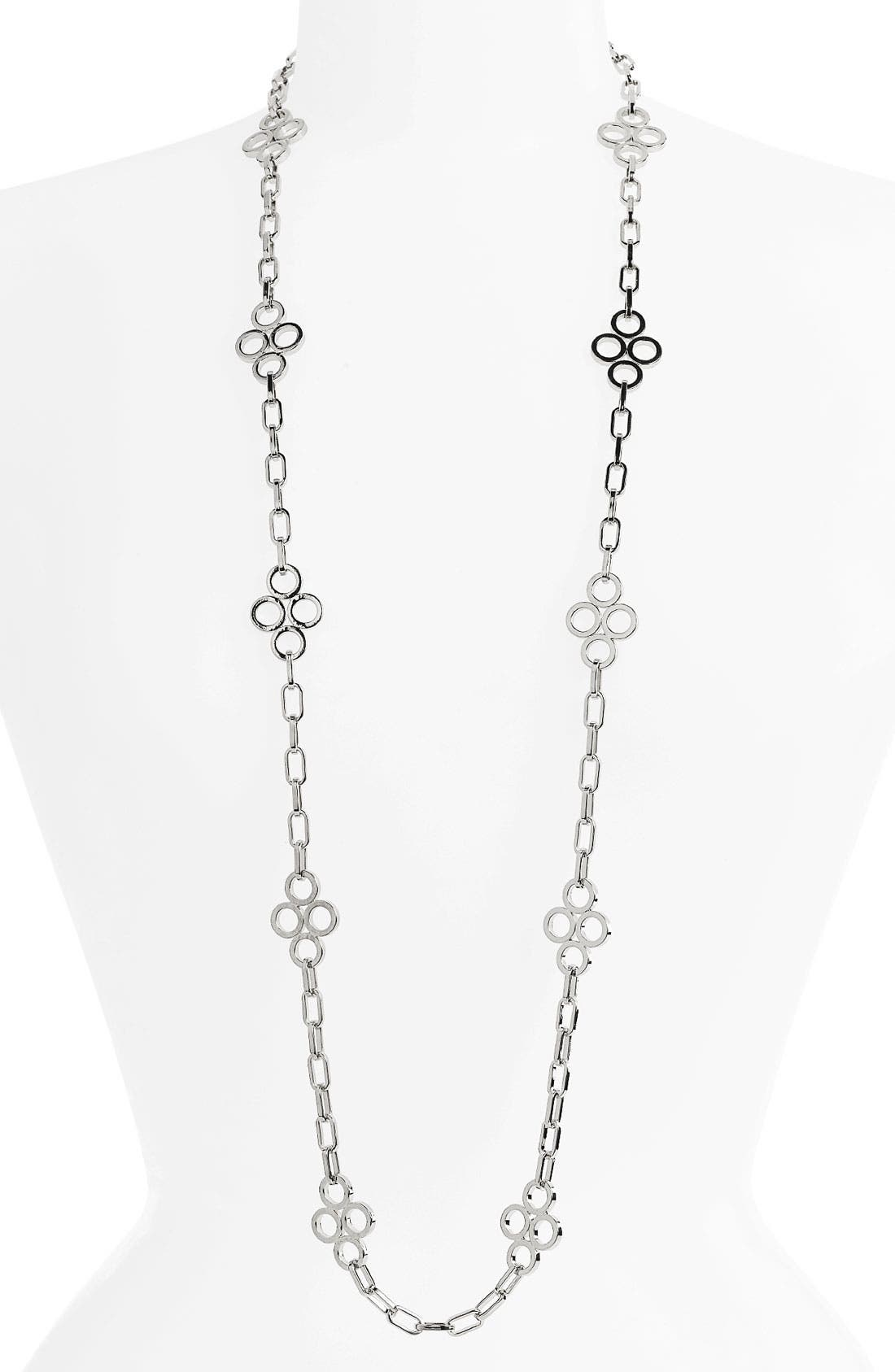 Main Image - Tory Burch Large Clover Chain Necklace