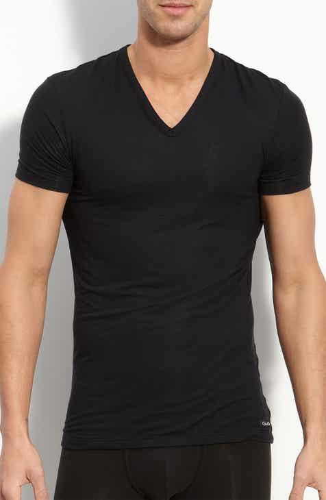 c12e22a680bb Calvin Klein  U5563  V-Neck Micromodal T-Shirt