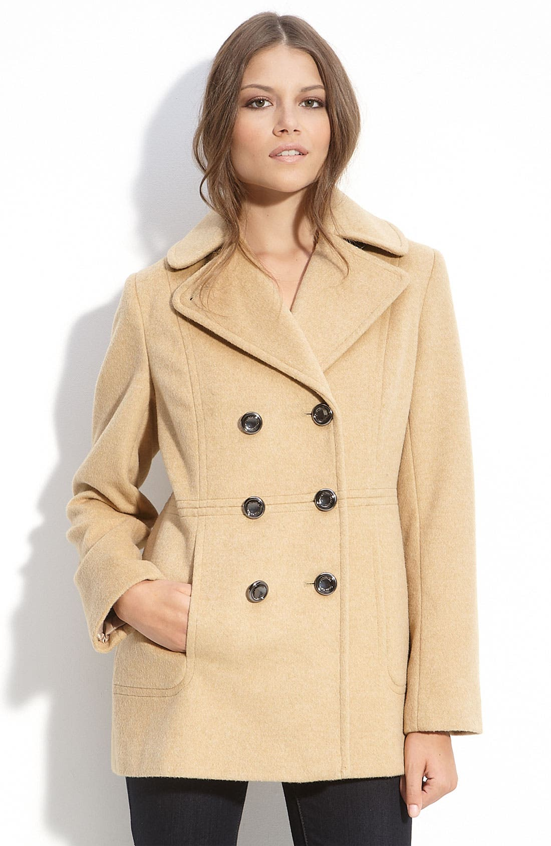 Alternate Image 1 Selected - Calvin Klein Double Breasted Peacoat