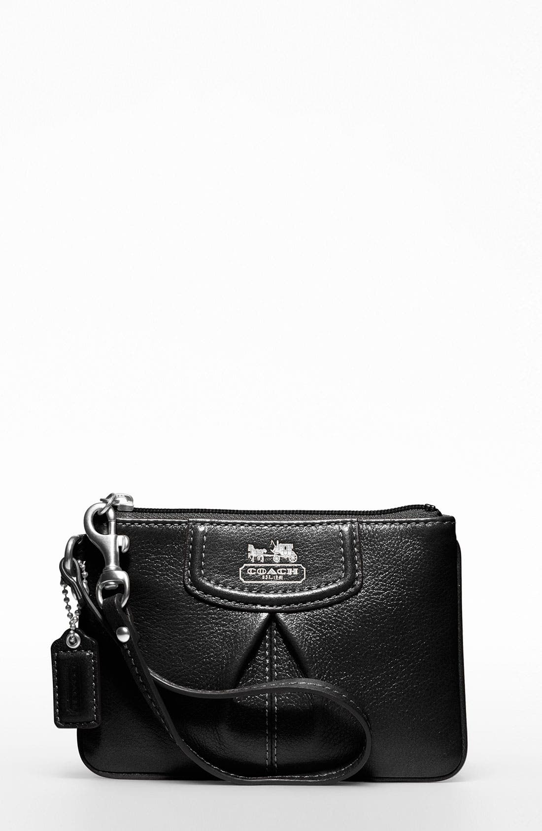 Main Image - COACH MADISON LEATHER SMALL WRISTLET