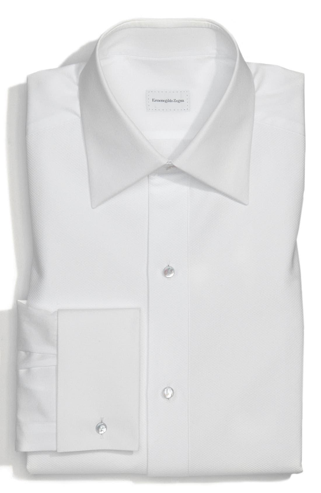 Alternate Image 1 Selected - Ermenegildo Zegna Regular Fit Tuxedo Shirt