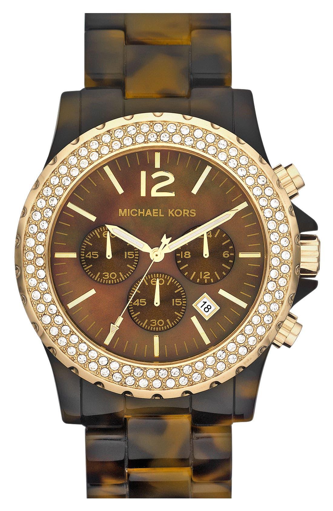 Main Image - Michael Kors 'Madison' Crystal Bezel Watch