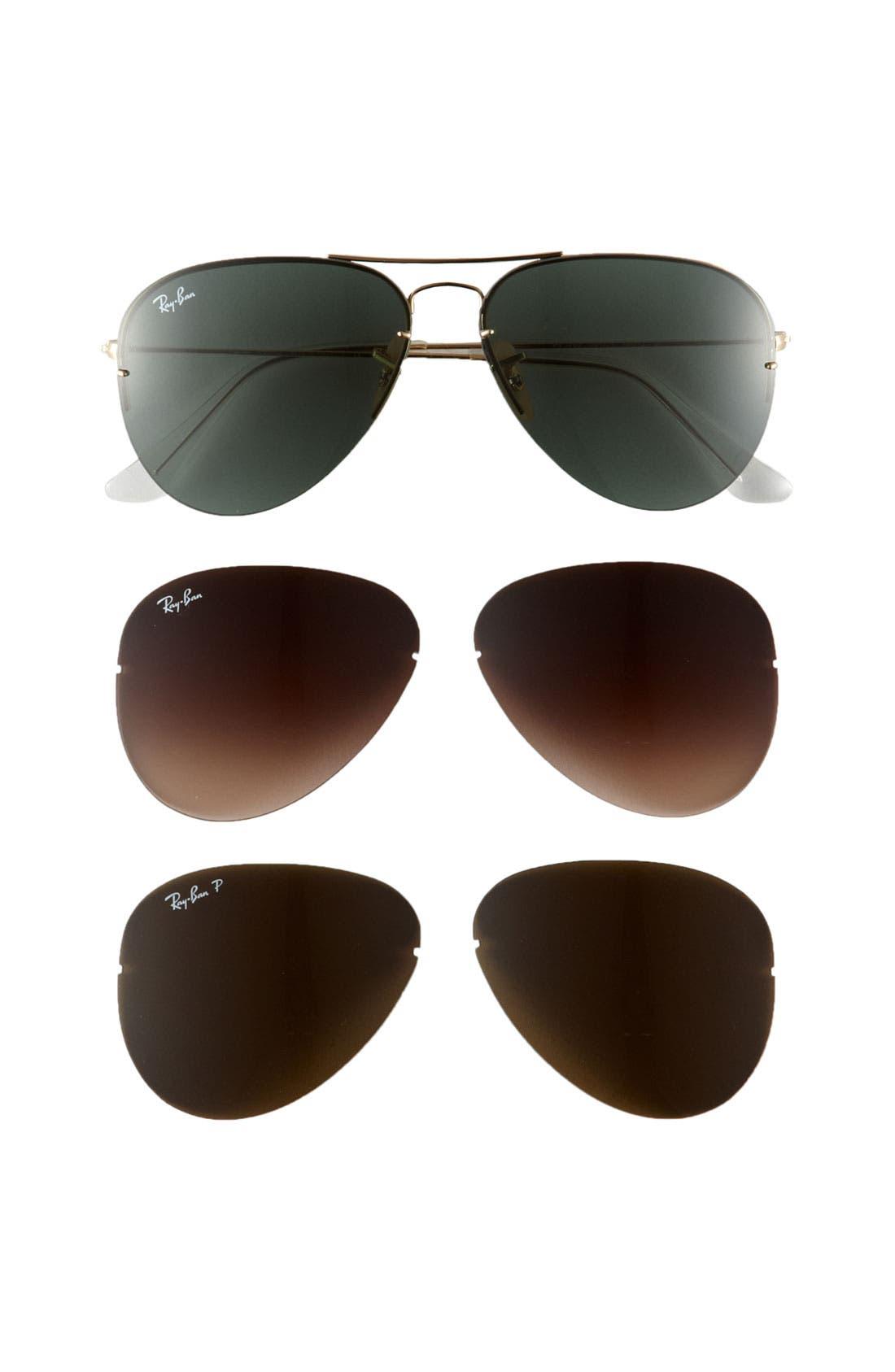 Main Image - Ray-Ban 'Light Ray - Interchangeable Lens Box Set' Aviator Sunglasses