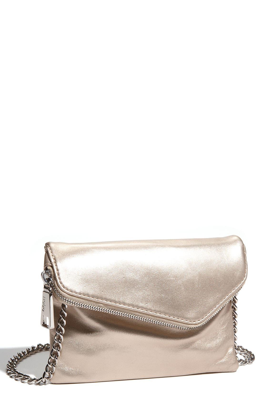 Main Image - Hobo 'Daria' Metallic Leather Crossbody Bag