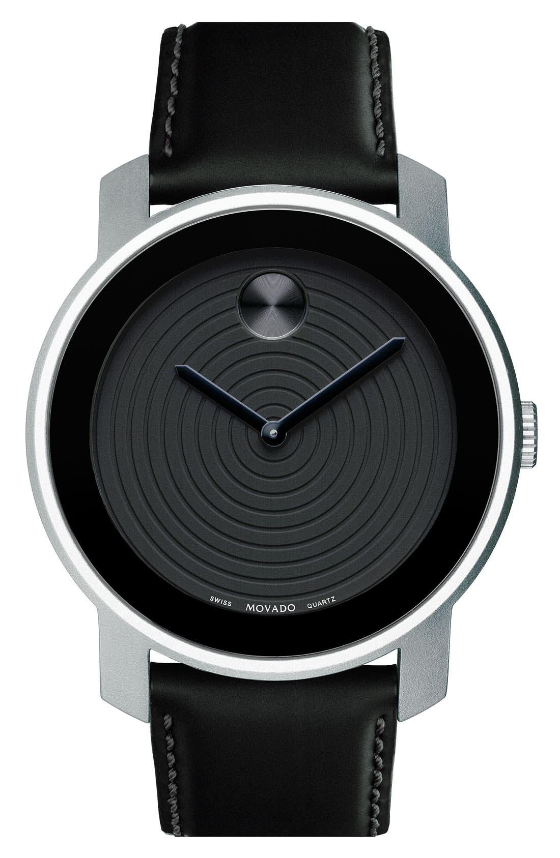 Alternate Image 1 Selected - Movado 'Large Bold' Aluminum Case Watch