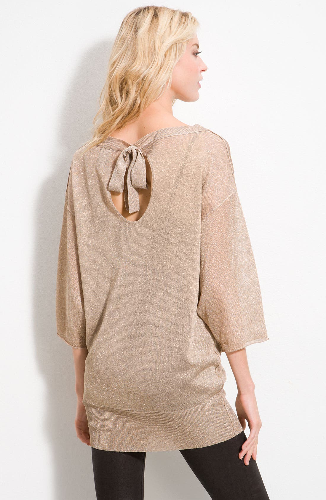 Alternate Image 2  - Ella Moss 'Lydon' Metallic Sweater Tunic