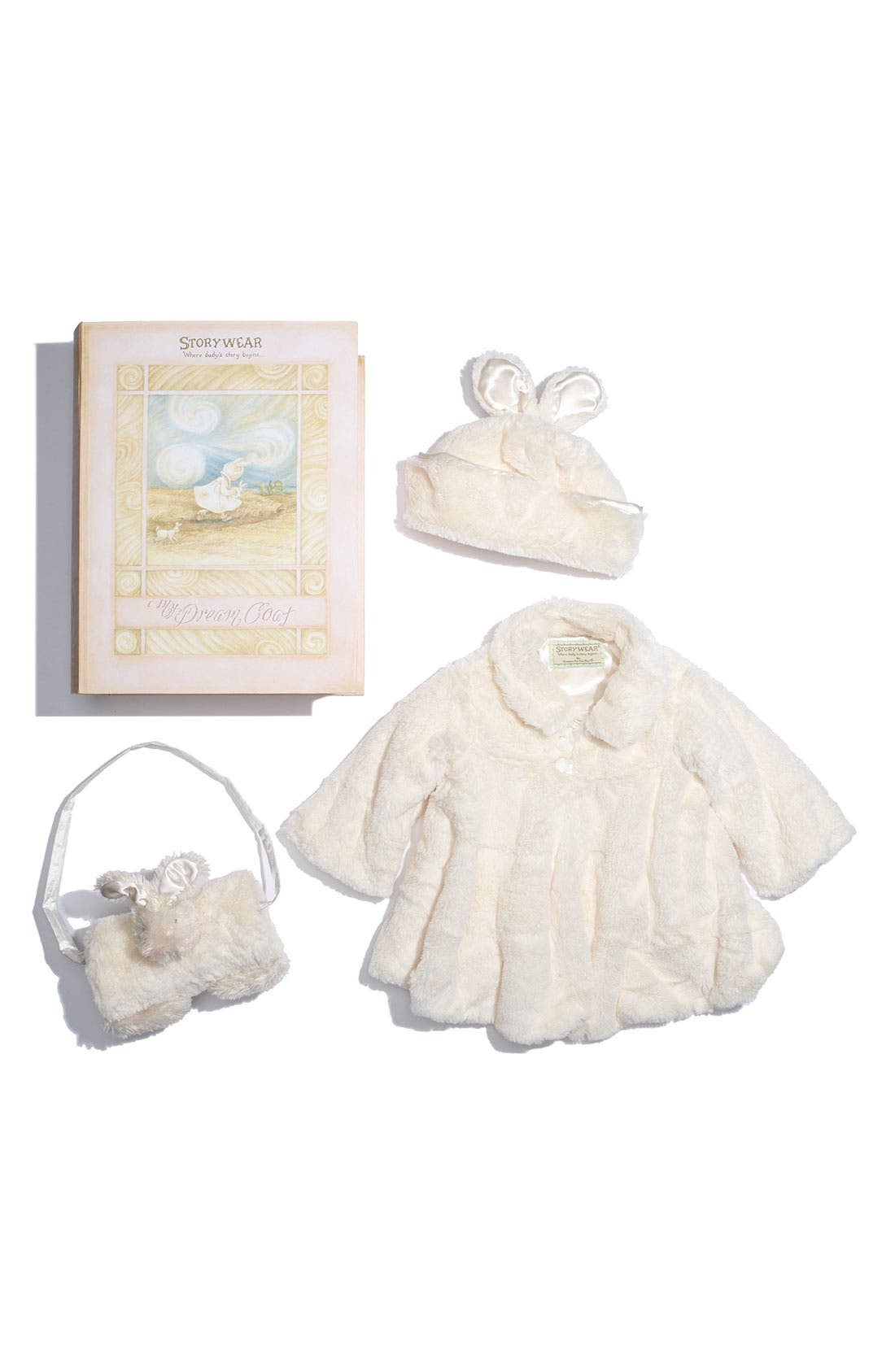 'Glad Dreams Coat Storywear' Set,                             Main thumbnail 1, color,                             Cream