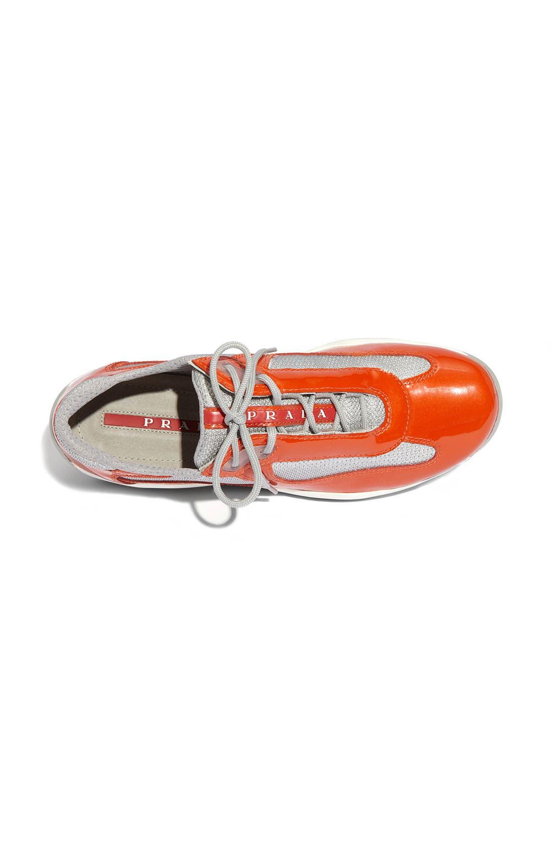 Alternate Image 3  - Prada Patent Leather & Mesh Sneaker