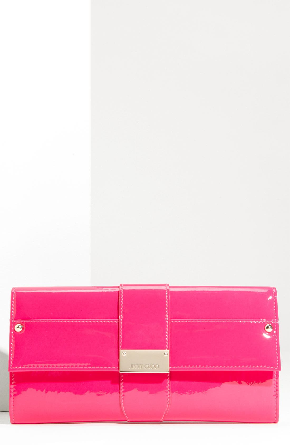 Alternate Image 1 Selected - Jimmy Choo 'Ubai' Patent Leather Clutch