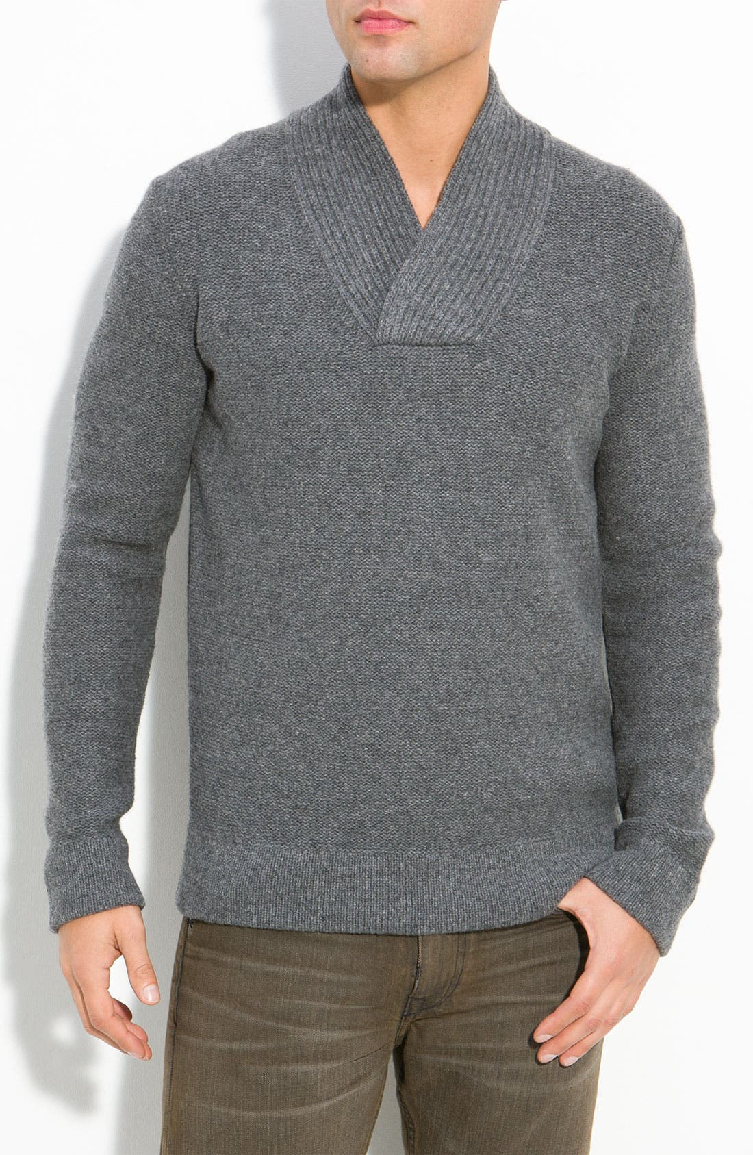 Alternate Image 1 Selected - Vince Shawl Collar Sweater