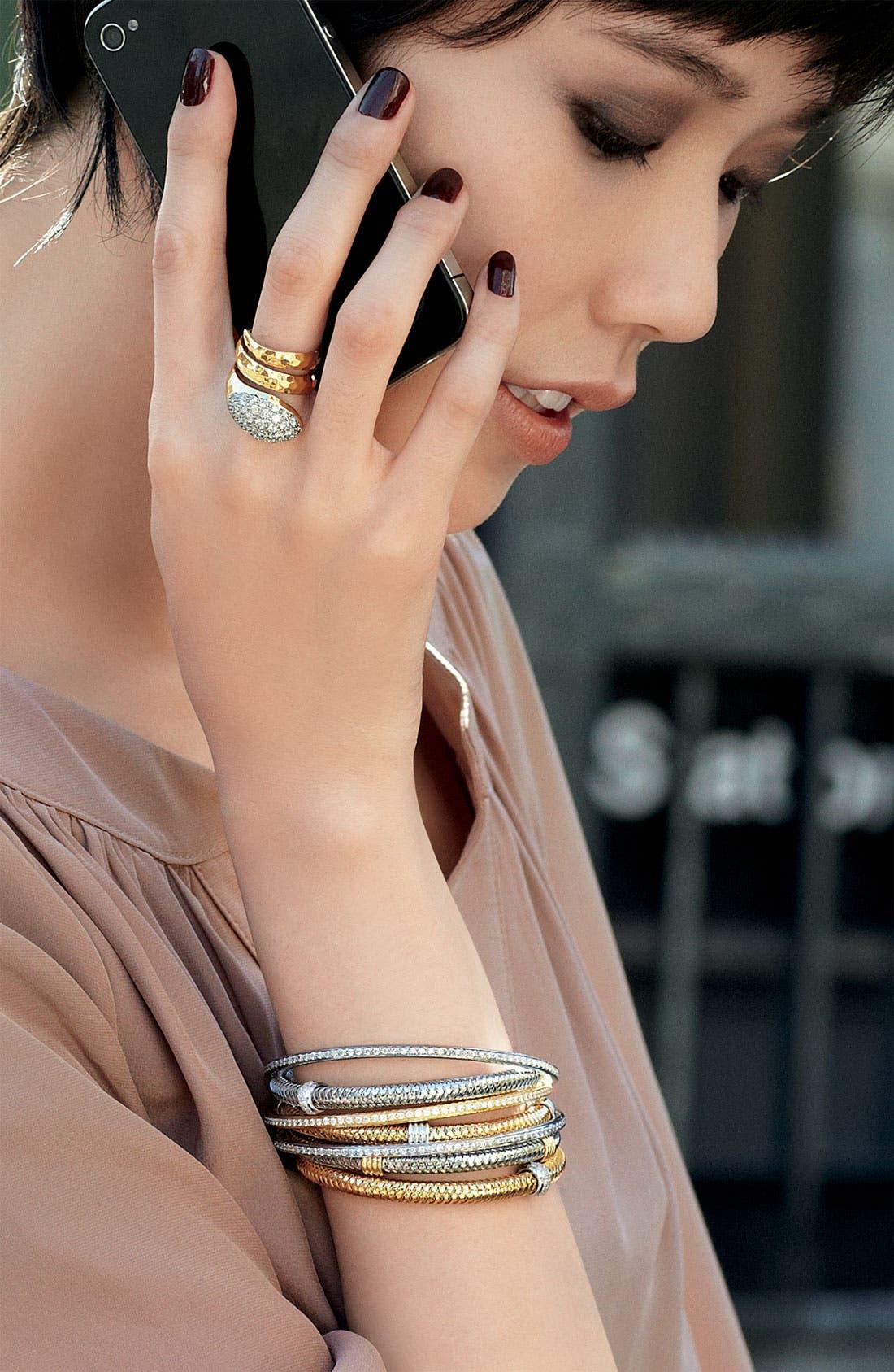 Alternate Image 2  - Roberto Coin 'Primavera' Gold Stackable Bracelet