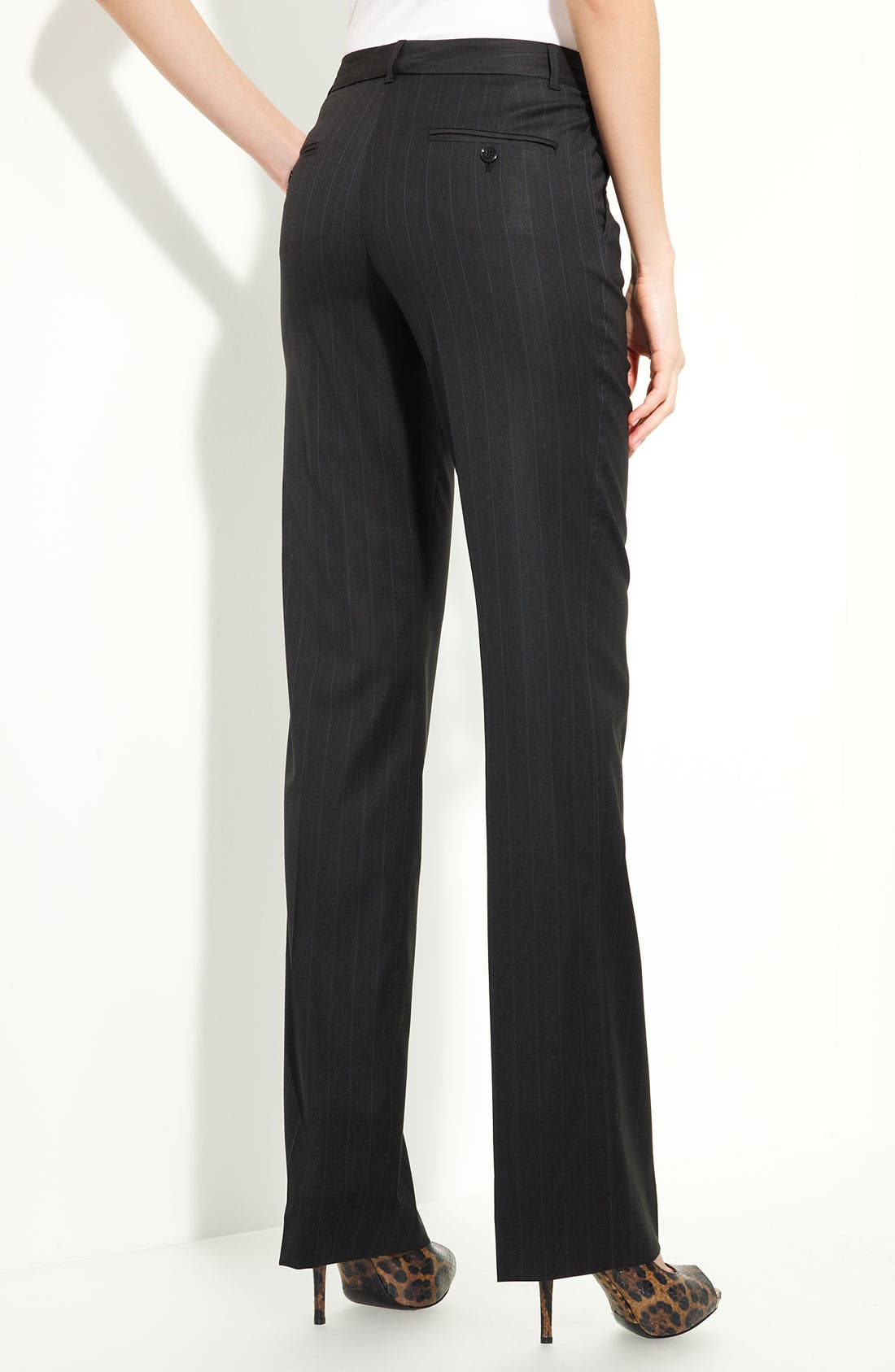 Alternate Image 1 Selected - Dolce&Gabbana Stretch Wool Pinstripe Pants