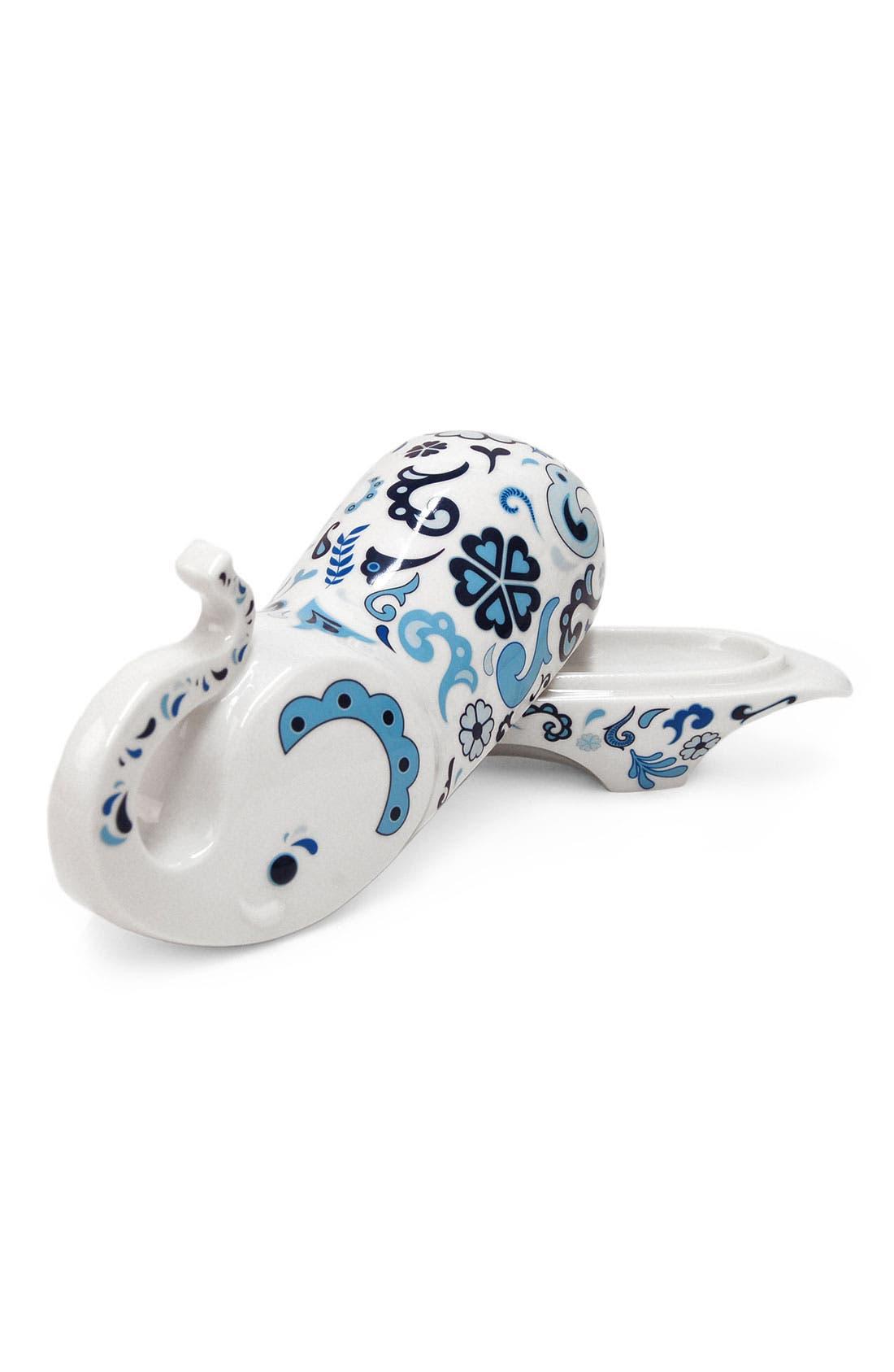 Alternate Image 2  - Jonathan Adler 'Elephant' Porcelain Butter Dish