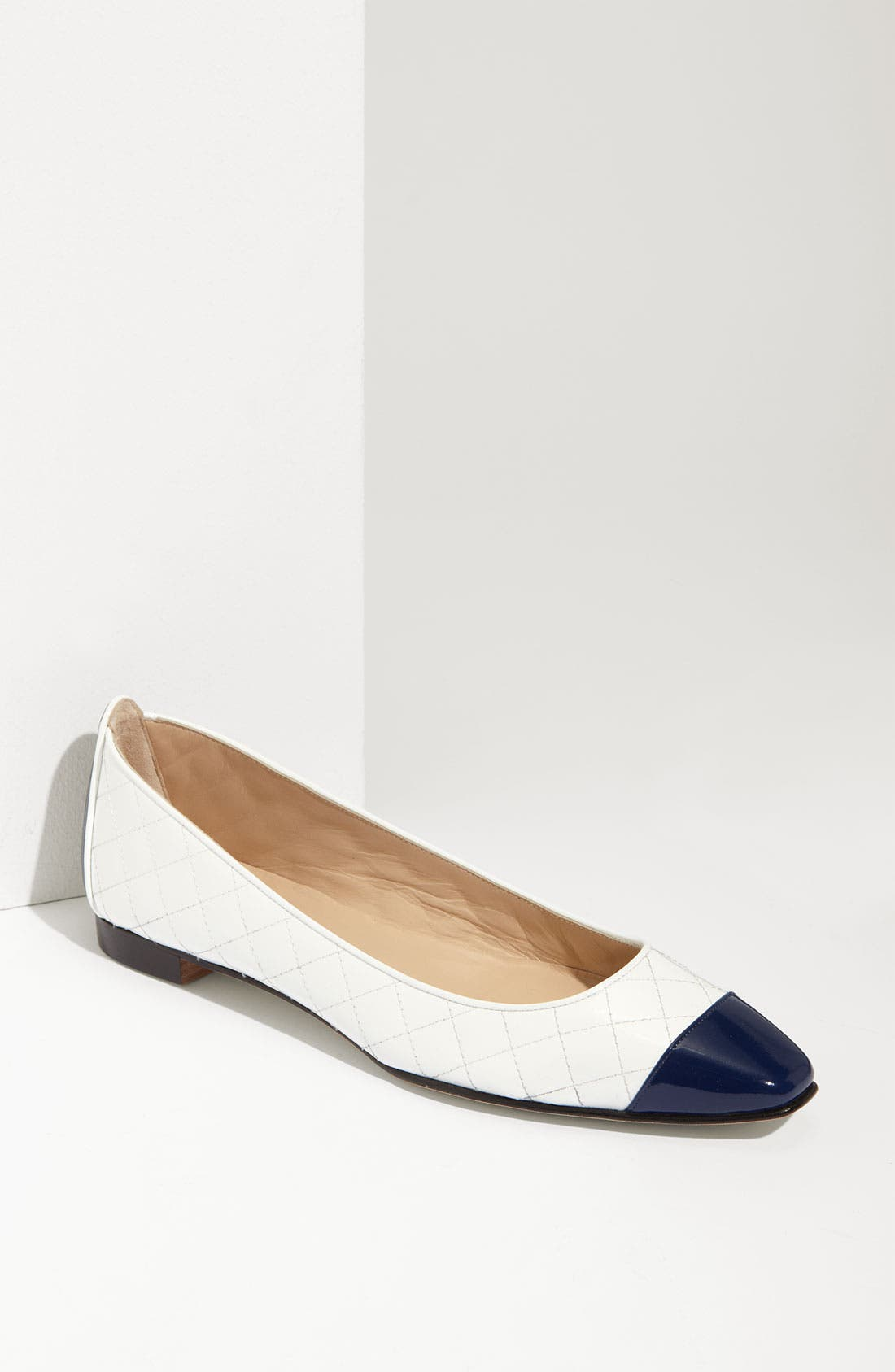 Main Image - Manolo Blahnik Pointed Cap Toe Flat