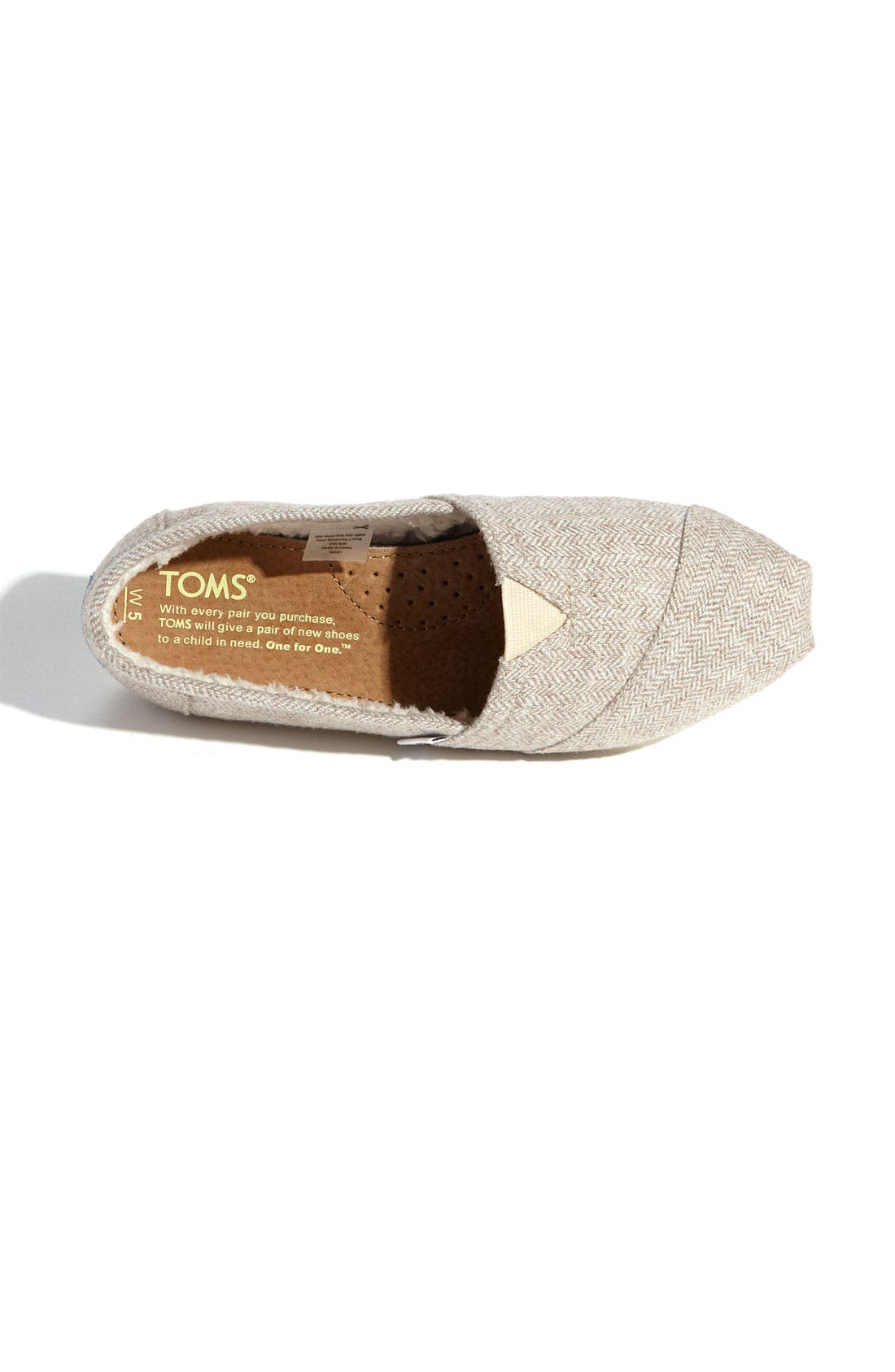Alternate Image 3  - TOMS Herringbone Fleece Slip-On (Women) (Exclusive)