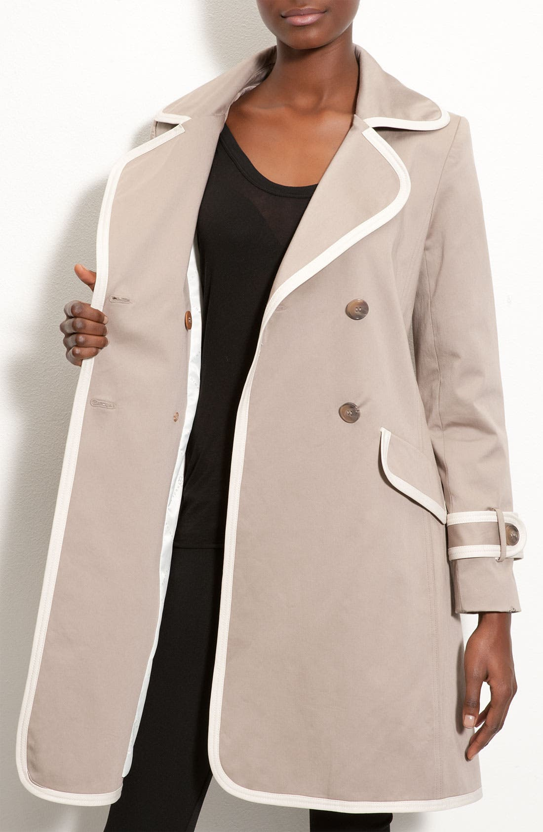 Alternate Image 3  - Trina Turk Contrast Trim Trench