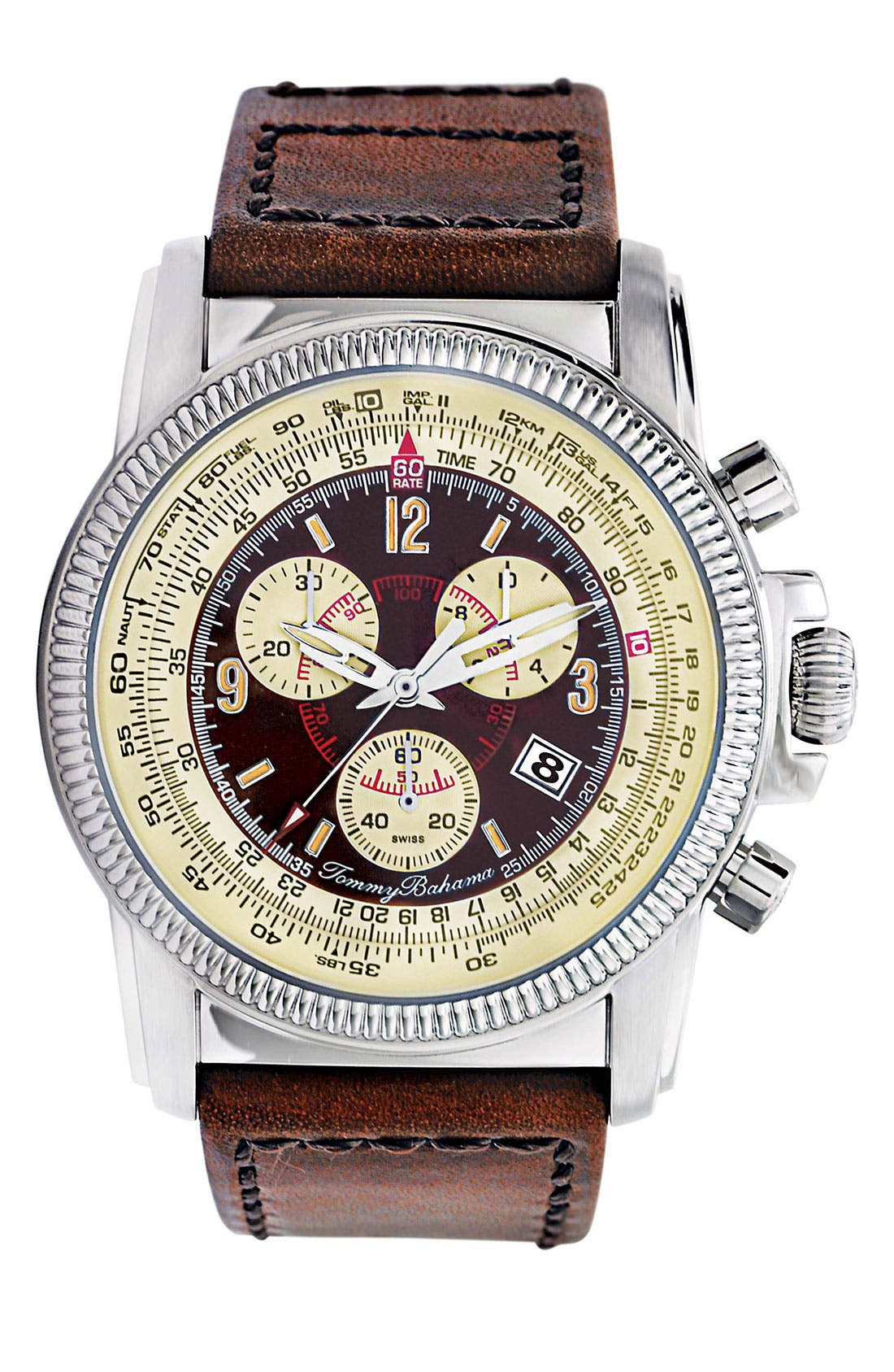 Main Image - Tommy Bahama 'Panama Pilot' Chronograph Watch, 42mm