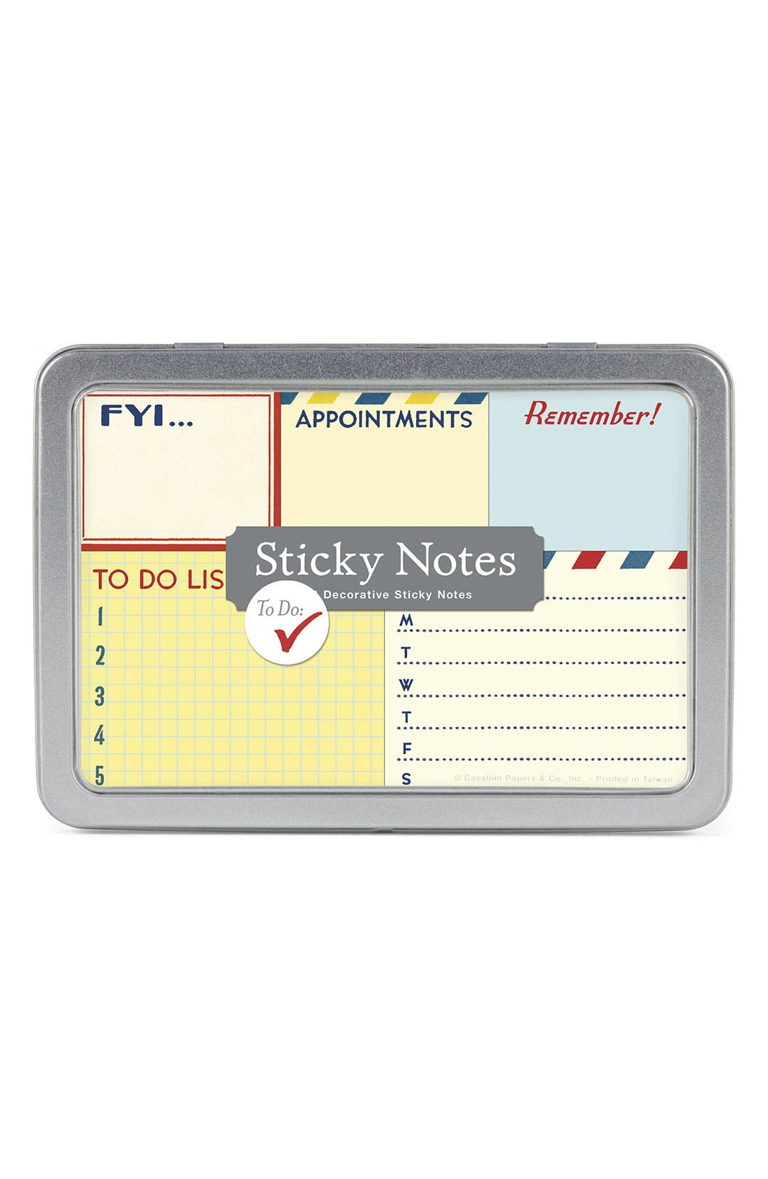 Main Image - Cavallini & Co. 'Vintage To-Do' Sticky Notes (Set of 5)