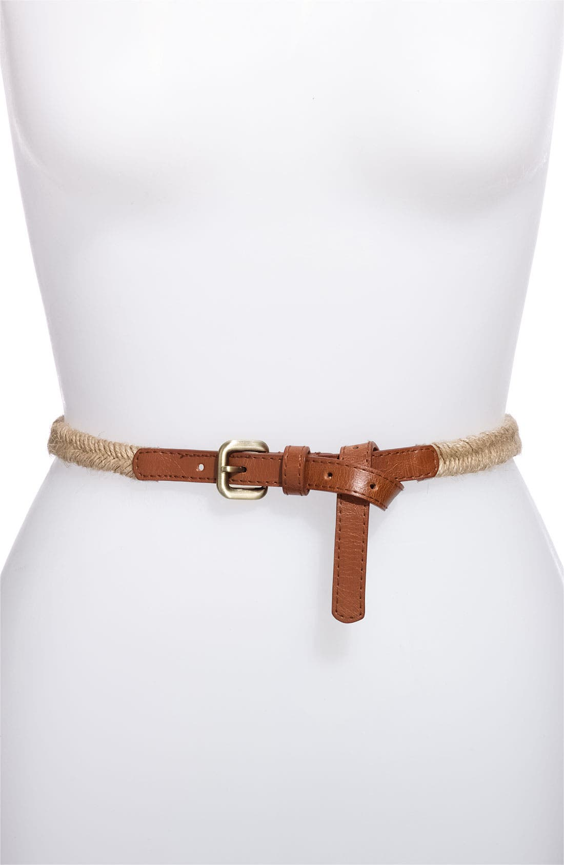 Alternate Image 2  - Lulu Studded Faux Leather & Stretch Rope Belts (2-Pack)