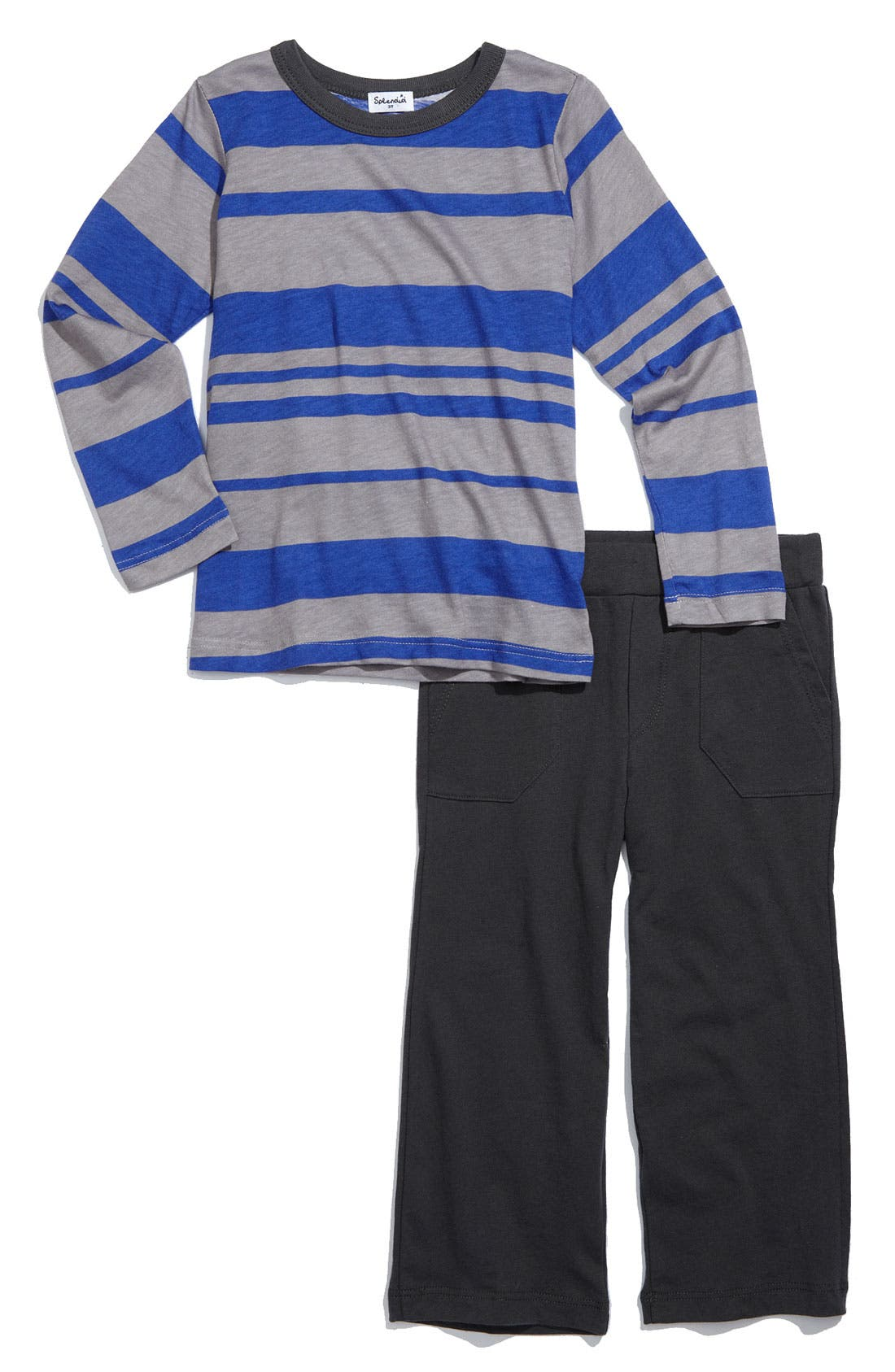Alternate Image 1 Selected - Splendid 'Maritime Stripe' Shirt & Pants Set (Toddler)