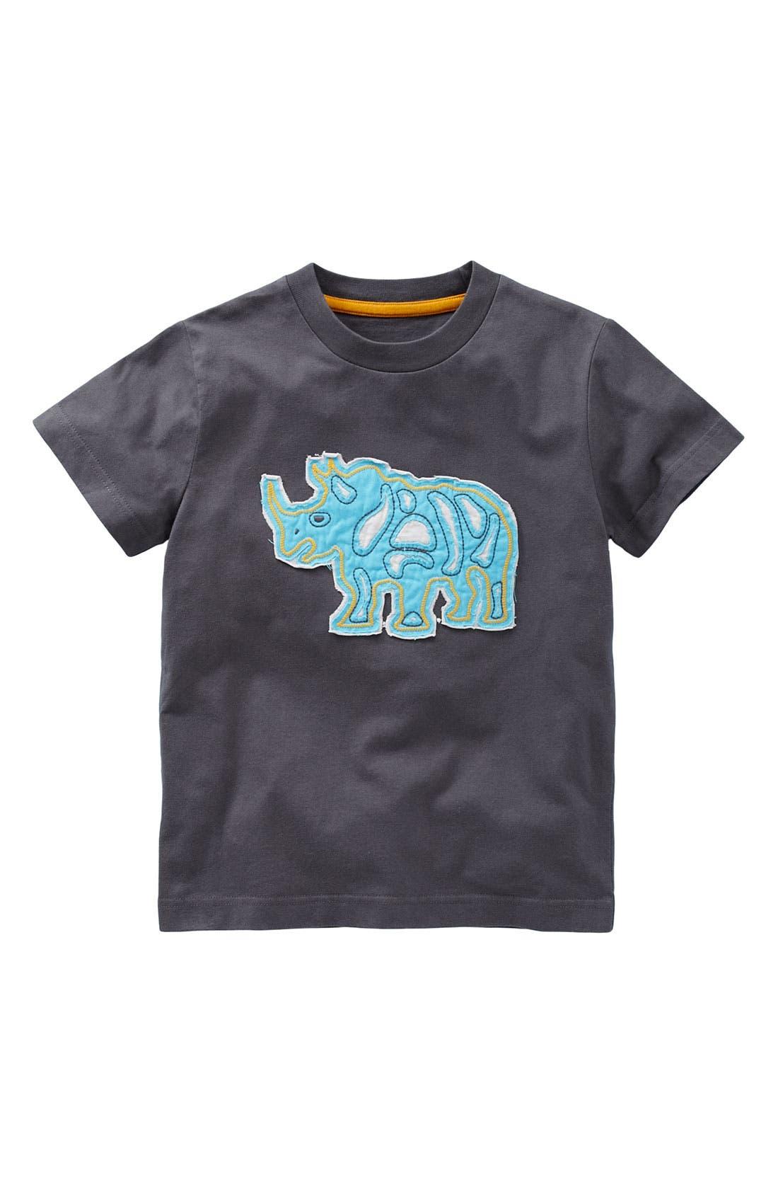 Alternate Image 1 Selected - Mini Boden 'Rough' Appliqué T-Shirt (Big Boys)