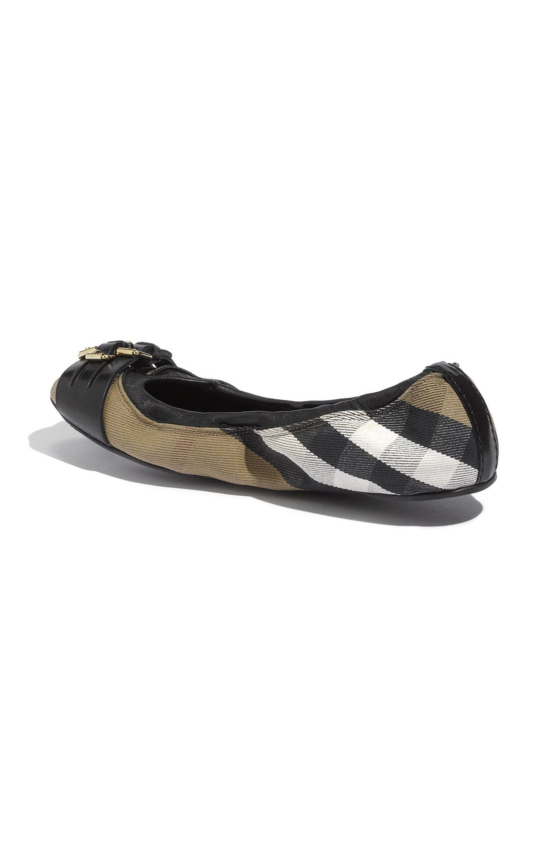 Alternate Image 2  - Burberry Ballet Flat