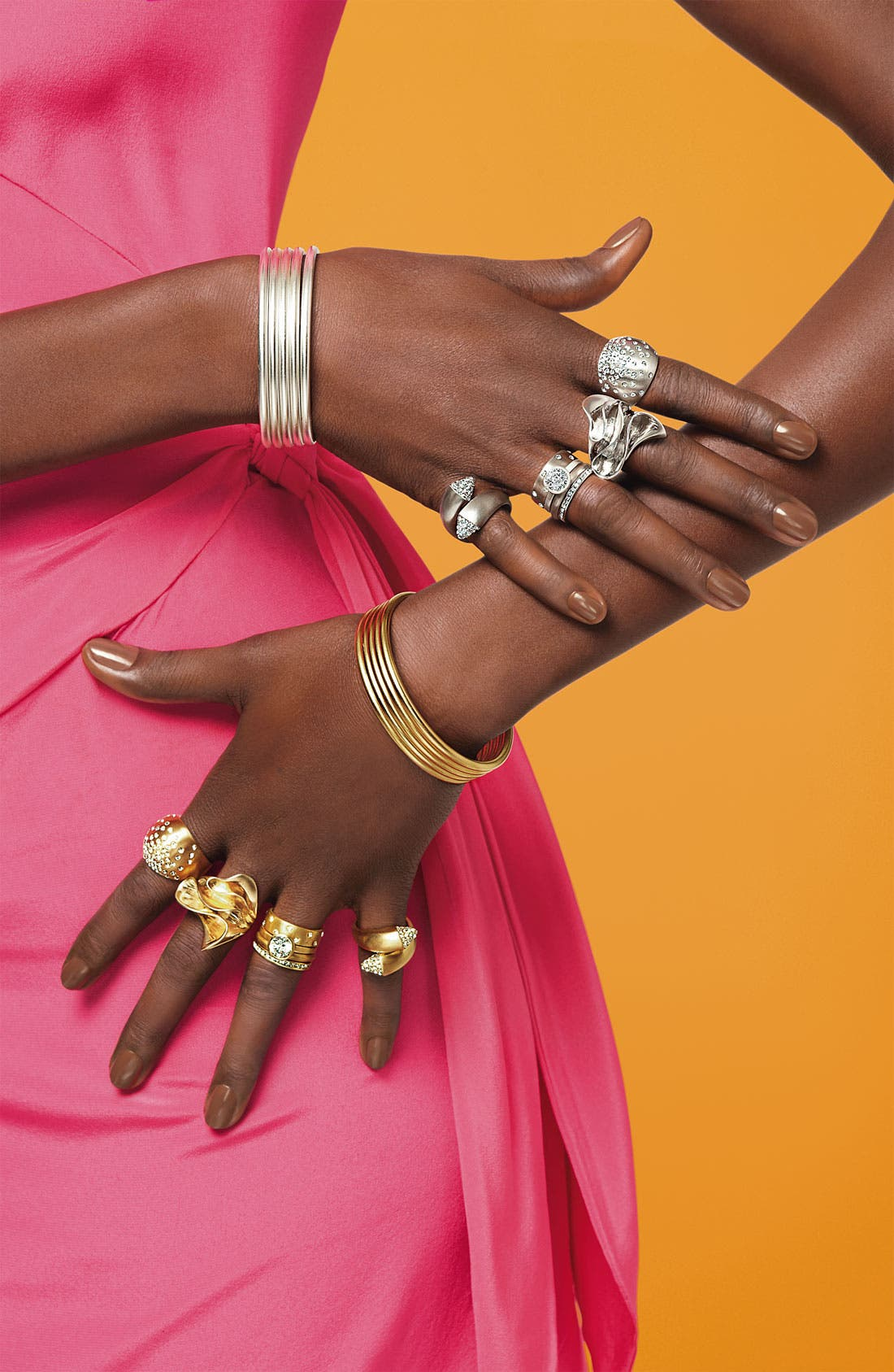 Alternate Image 2  - Ariella Collection Satin Metal Stack Rings (Set of 4) (Nordstrom Exclusive)