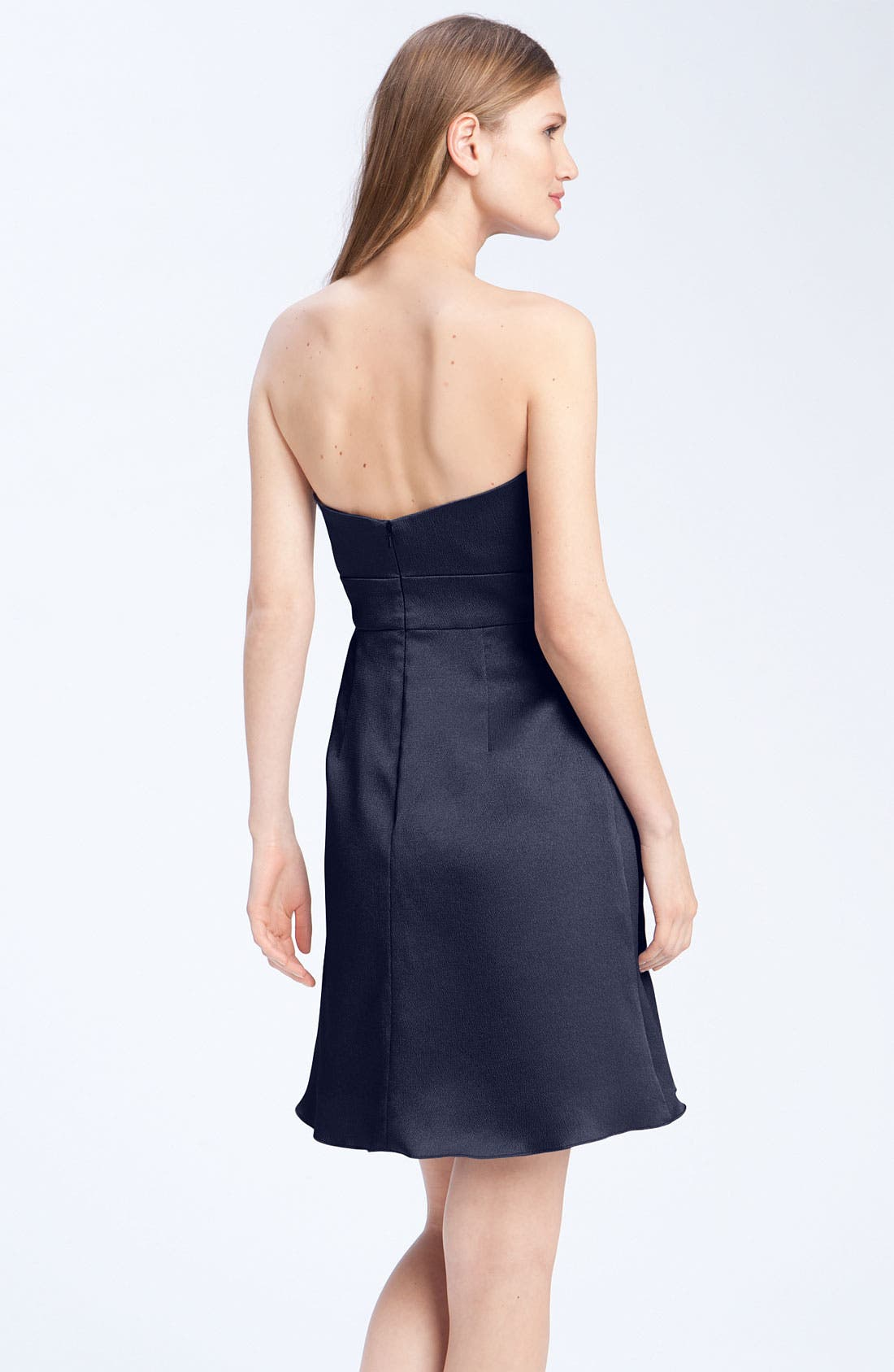 Alternate Image 2  - Jenny Yoo Hammered Satin Strapless Dress
