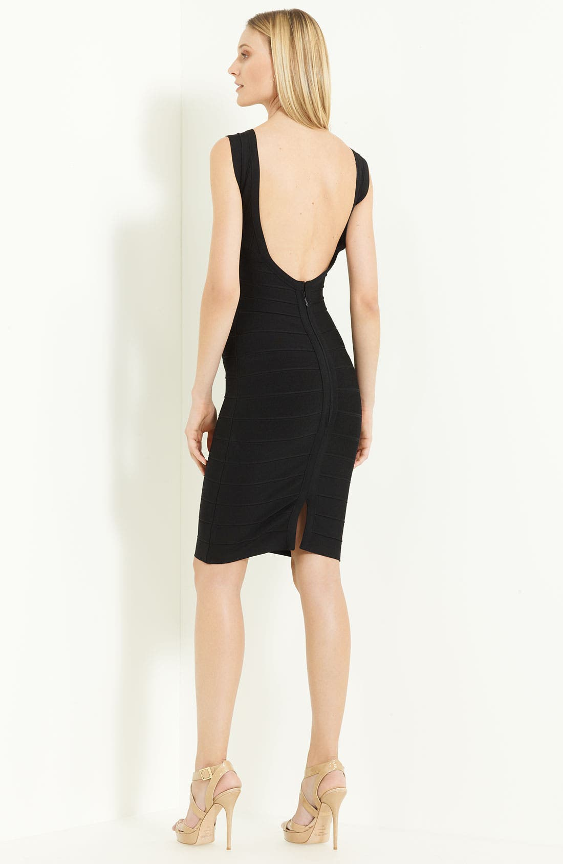 Alternate Image 2  - Herve Leger V-Neck Bandage Dress