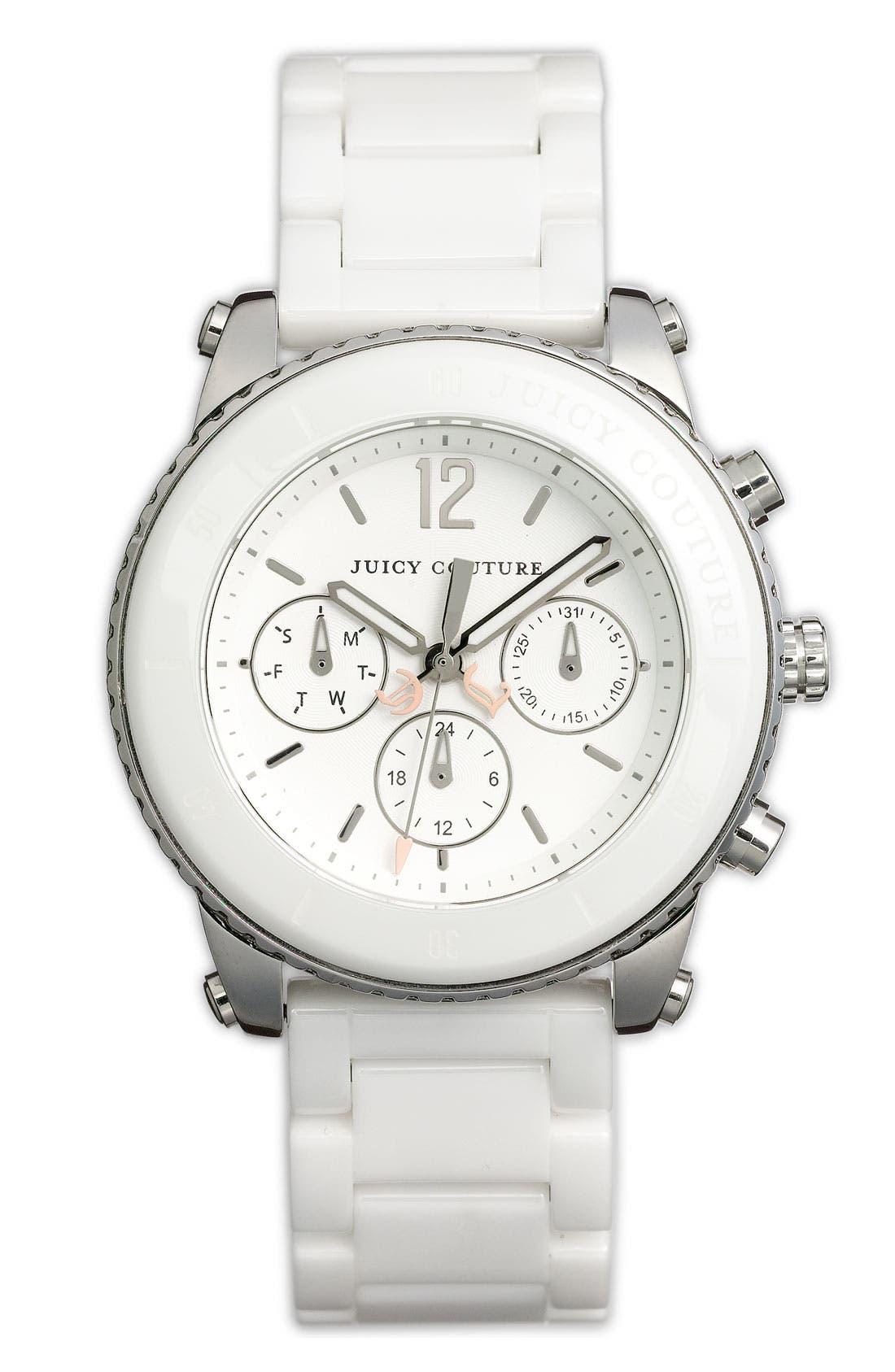 Alternate Image 1 Selected - Juicy Couture 'Pedigree' Ceramic Bracelet Watch, 38mm