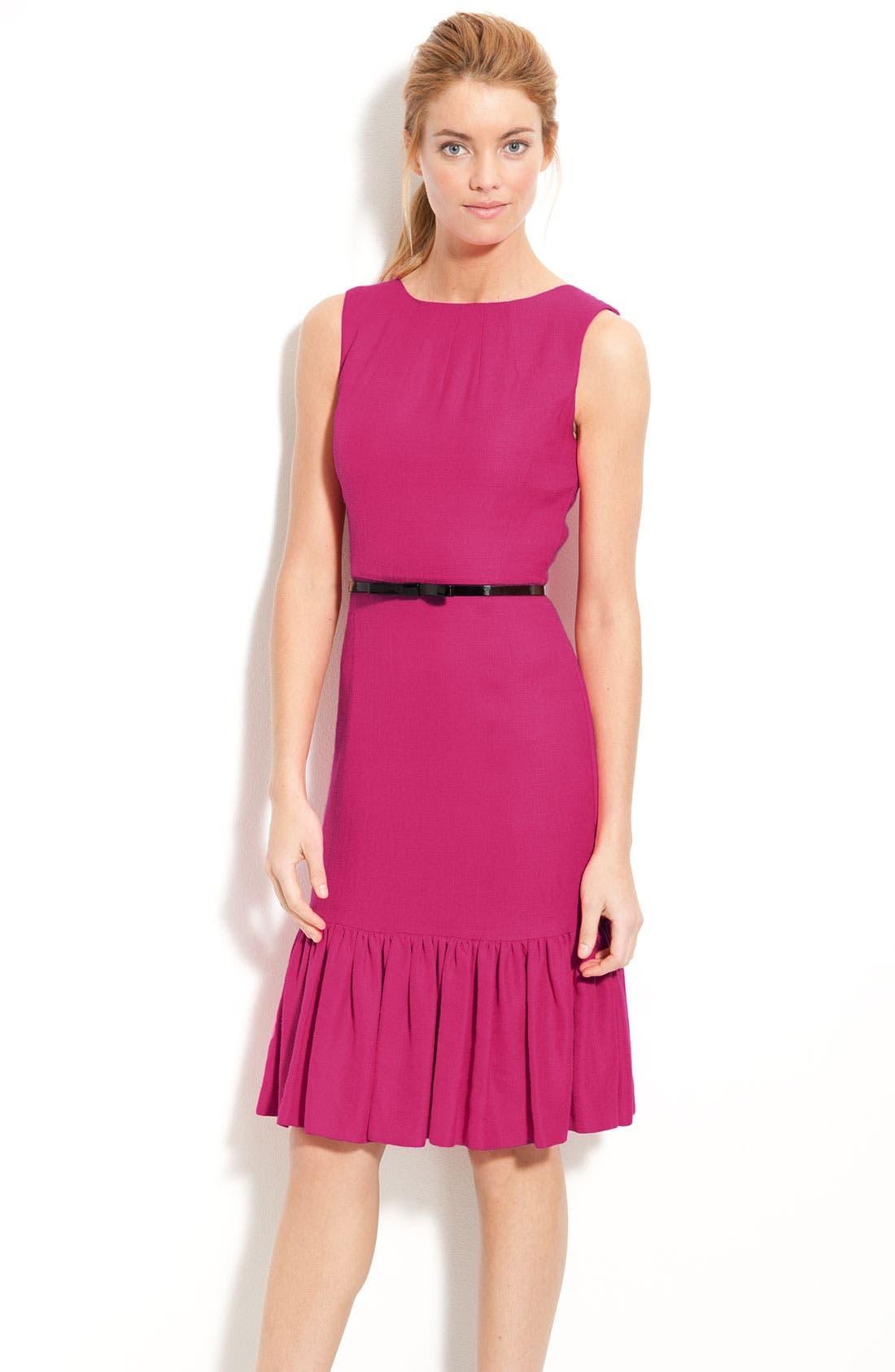 Main Image - kate spade new york 'siren' ruffle hem sheath dress