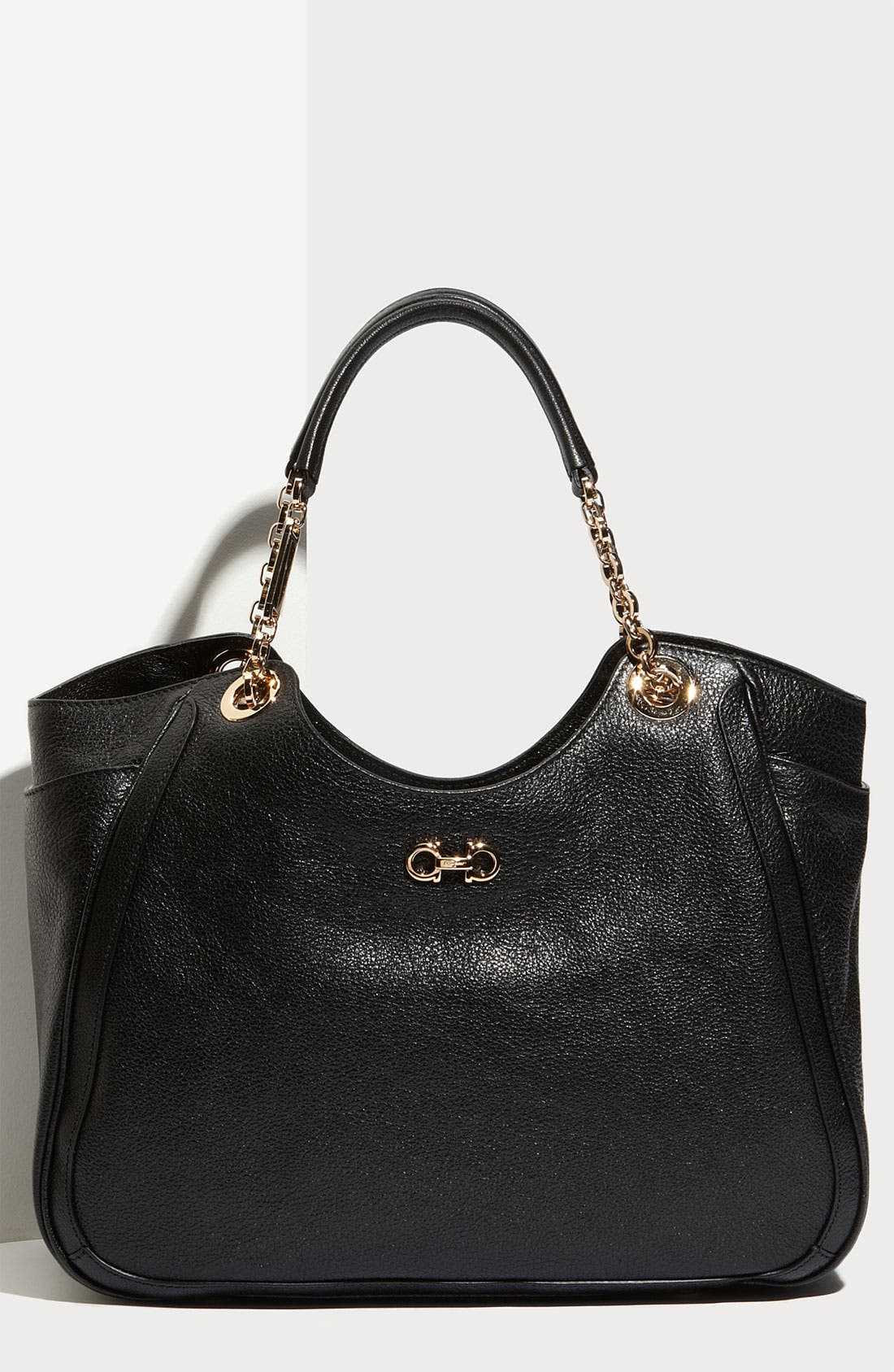 Alternate Image 1 Selected - Salvatore Ferragamo 'Betulla Chain' Leather Shopper