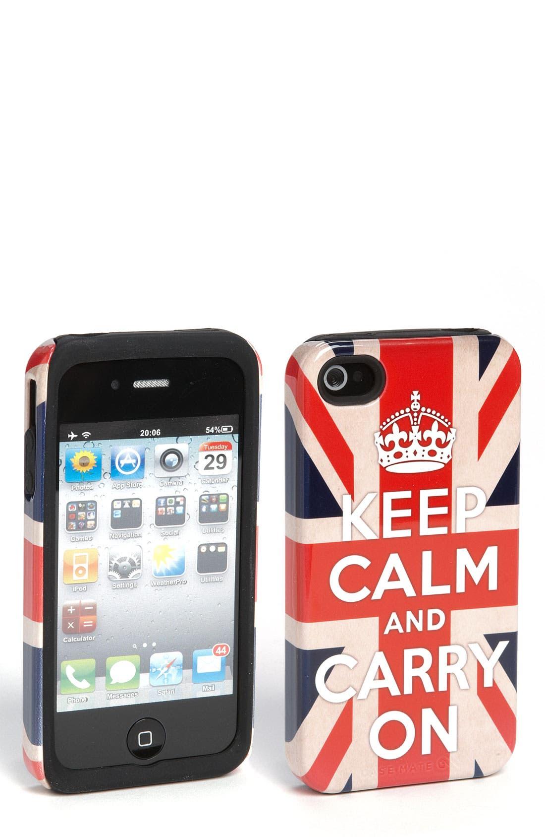 Alternate Image 1 Selected - Case-Mate® 'Union Jack' iPhone 4 & 4S Case