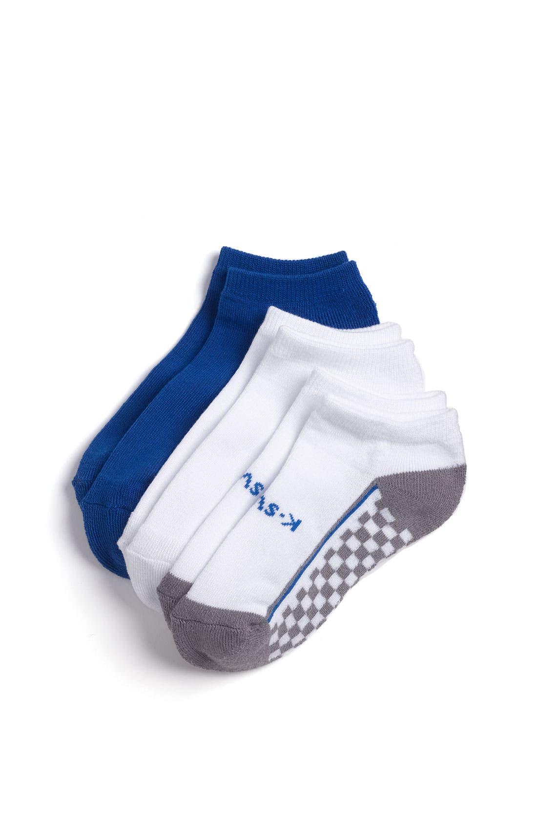 Alternate Image 1 Selected - K-Swiss 'Racing Check' Socks (3-Pack) (Big Boys)