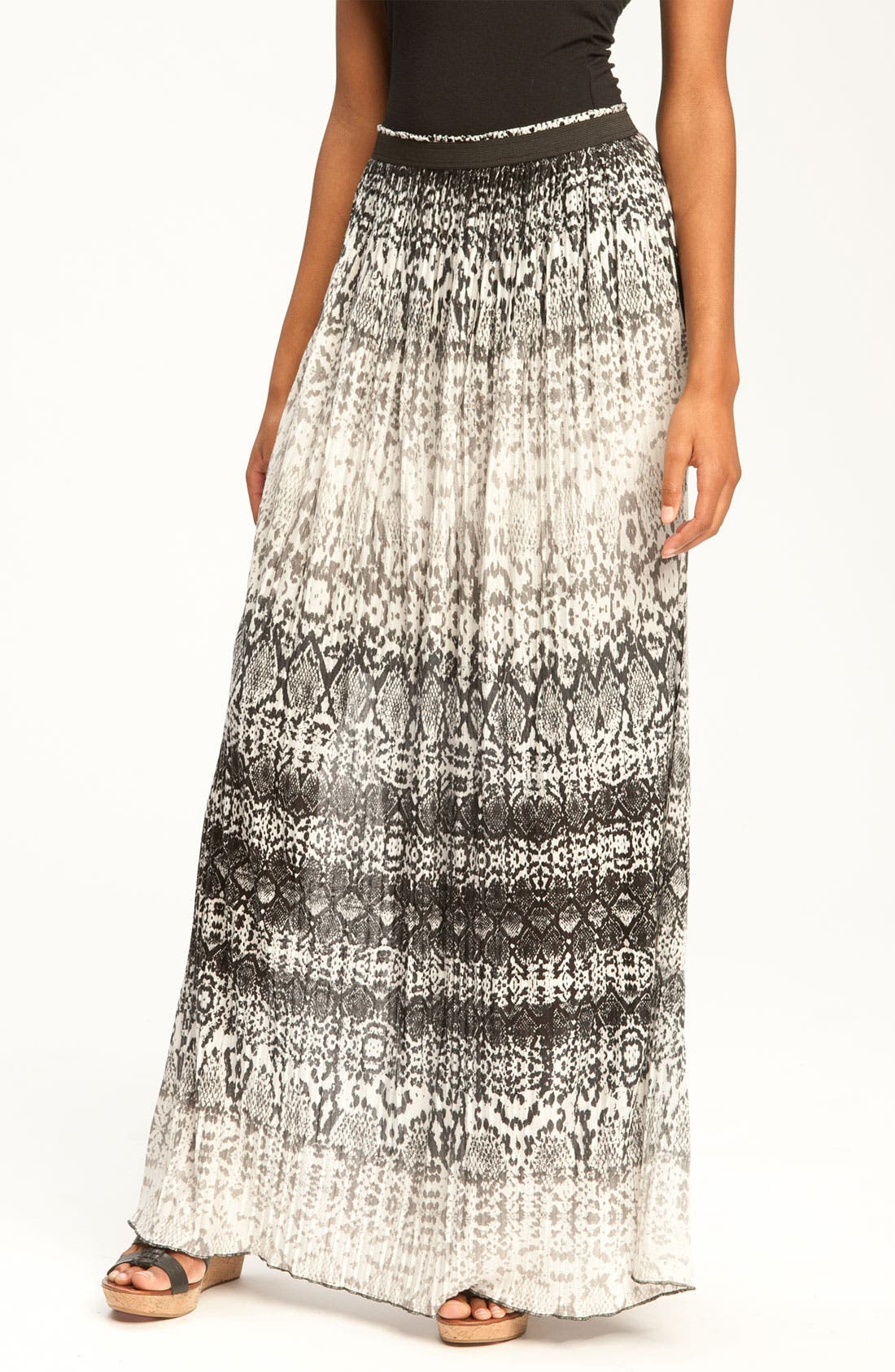 Main Image - Kenneth Cole New York Pleated Python Print Max Skirt