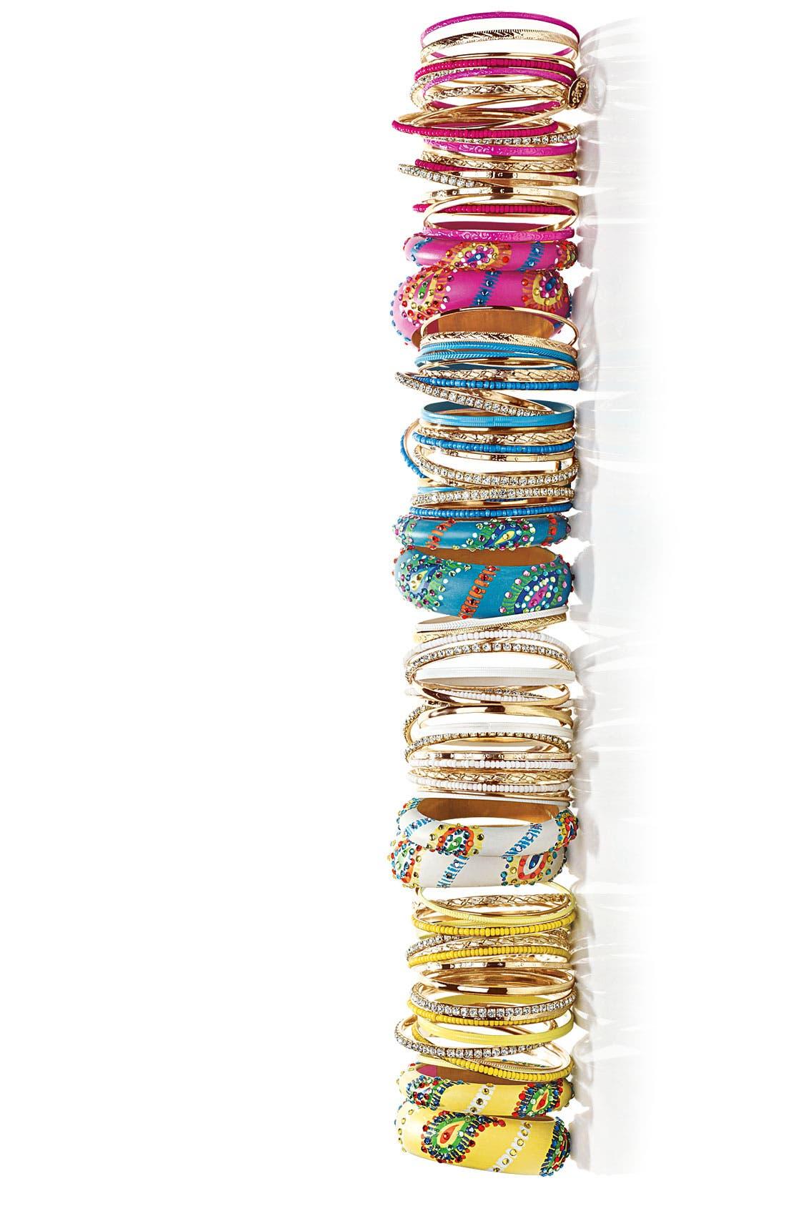 Alternate Image 2  - Cara Accessories 'Medium' Painted Paisley Bangle