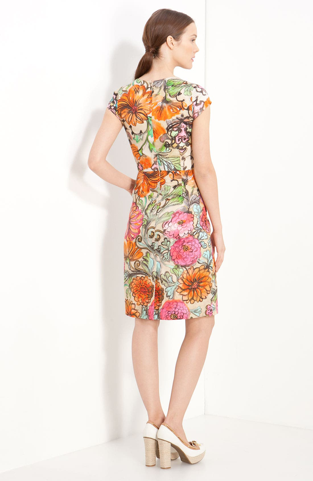 Alternate Image 2  - Milly 'Francesca' Garden Print Dress