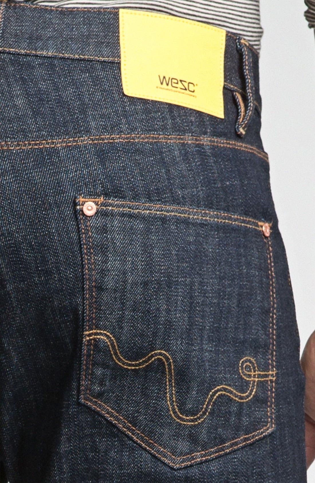 Alternate Image 3  - WeSC 'Eddy' Slim Fit Jeans (Bright)