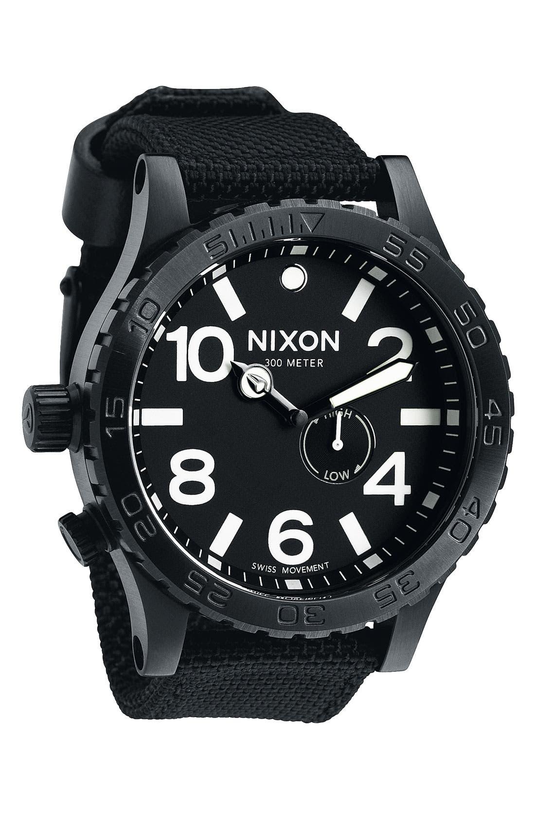 'The 51-30' Nylon Strap Watch,                             Main thumbnail 1, color,                             Black