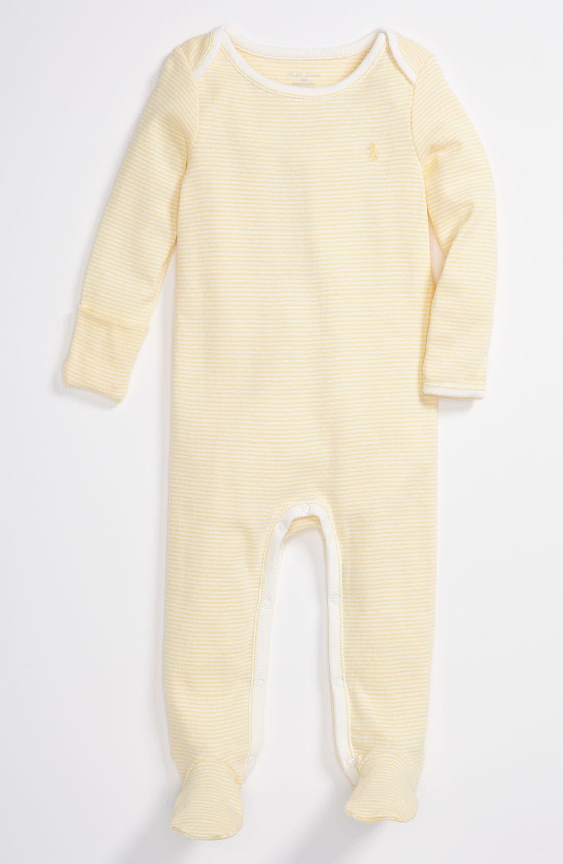 Alternate Image 1 Selected - Ralph Lauren Stripe Footie (Infant)