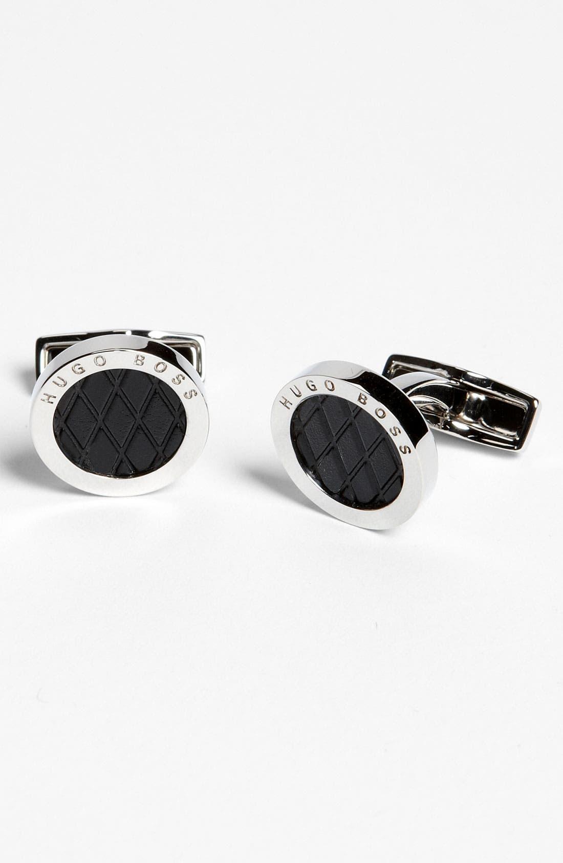 Main Image - BOSS Black 'Lael' Cuff Links