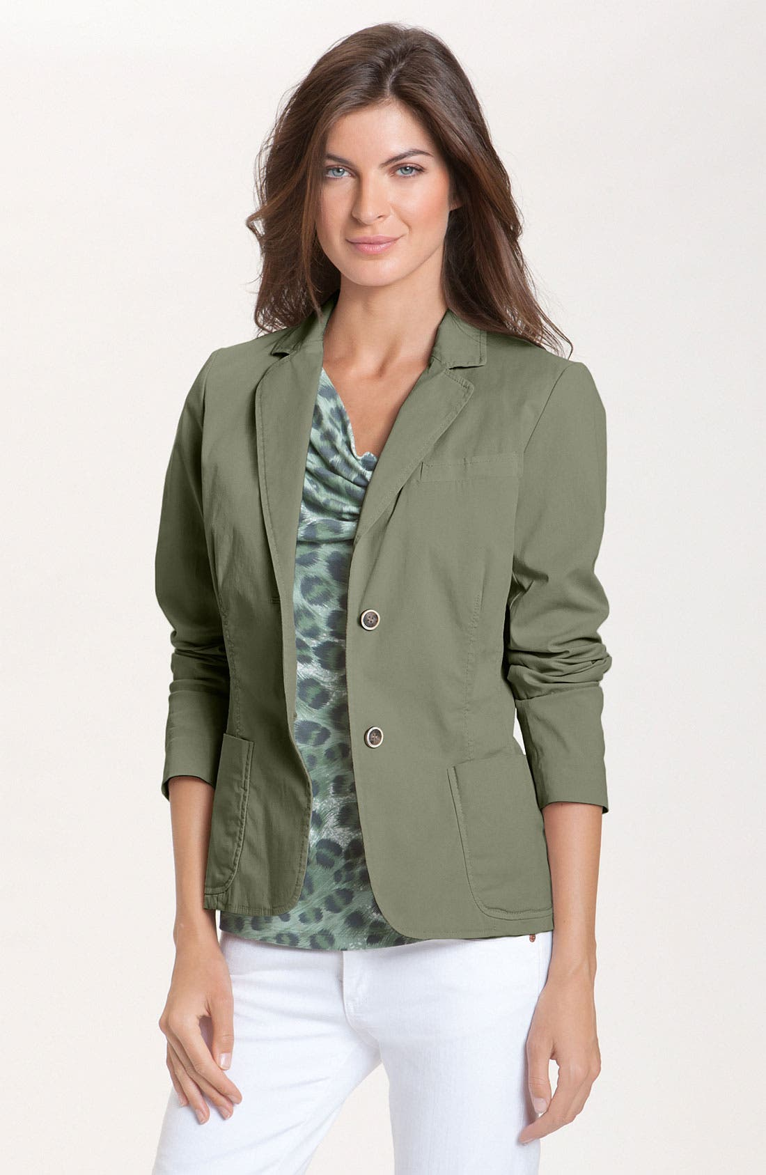 Alternate Image 1 Selected - Lafayette 148 New York 'Paolo' Stretch Twill Jacket