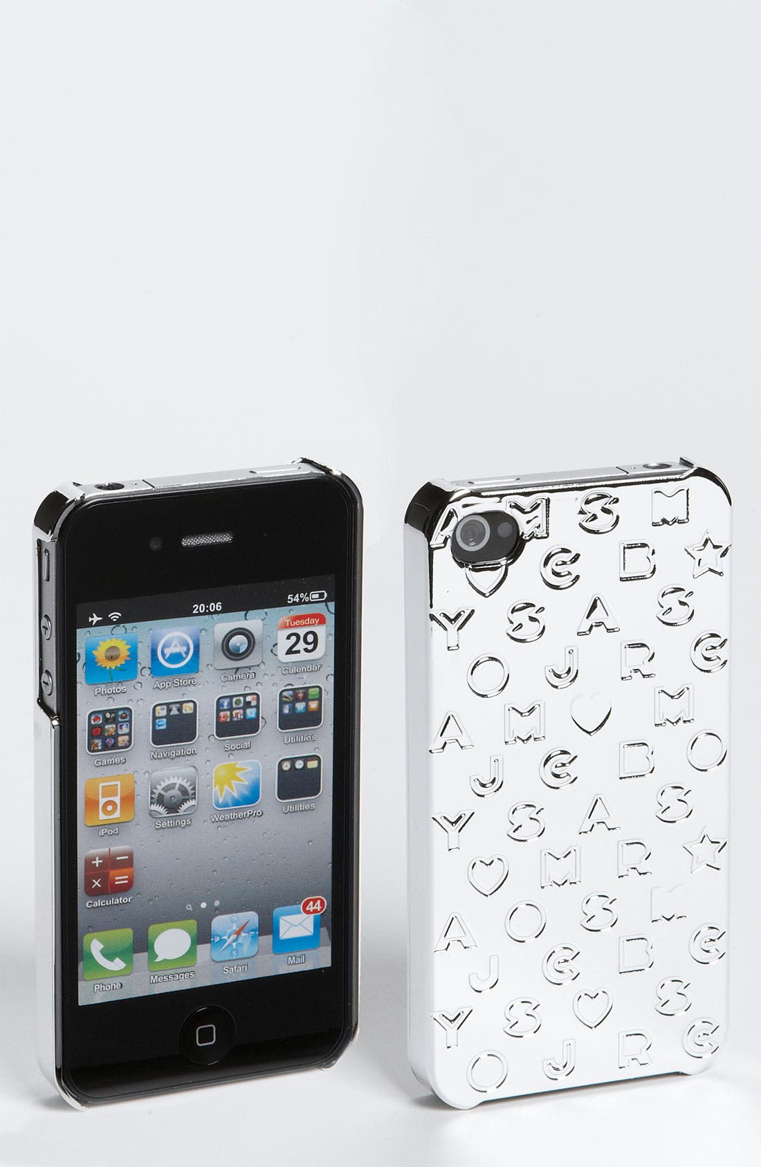 Alternate Image 1 Selected - MARC BY MARC JACOBS 'Metallic Stardust' iPhone 4 Case
