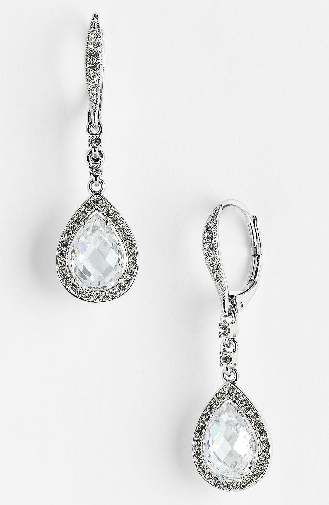 Main Image - Nadri Cubic Zirconia Pear Drop Earrings (Nordstrom Exclusive)