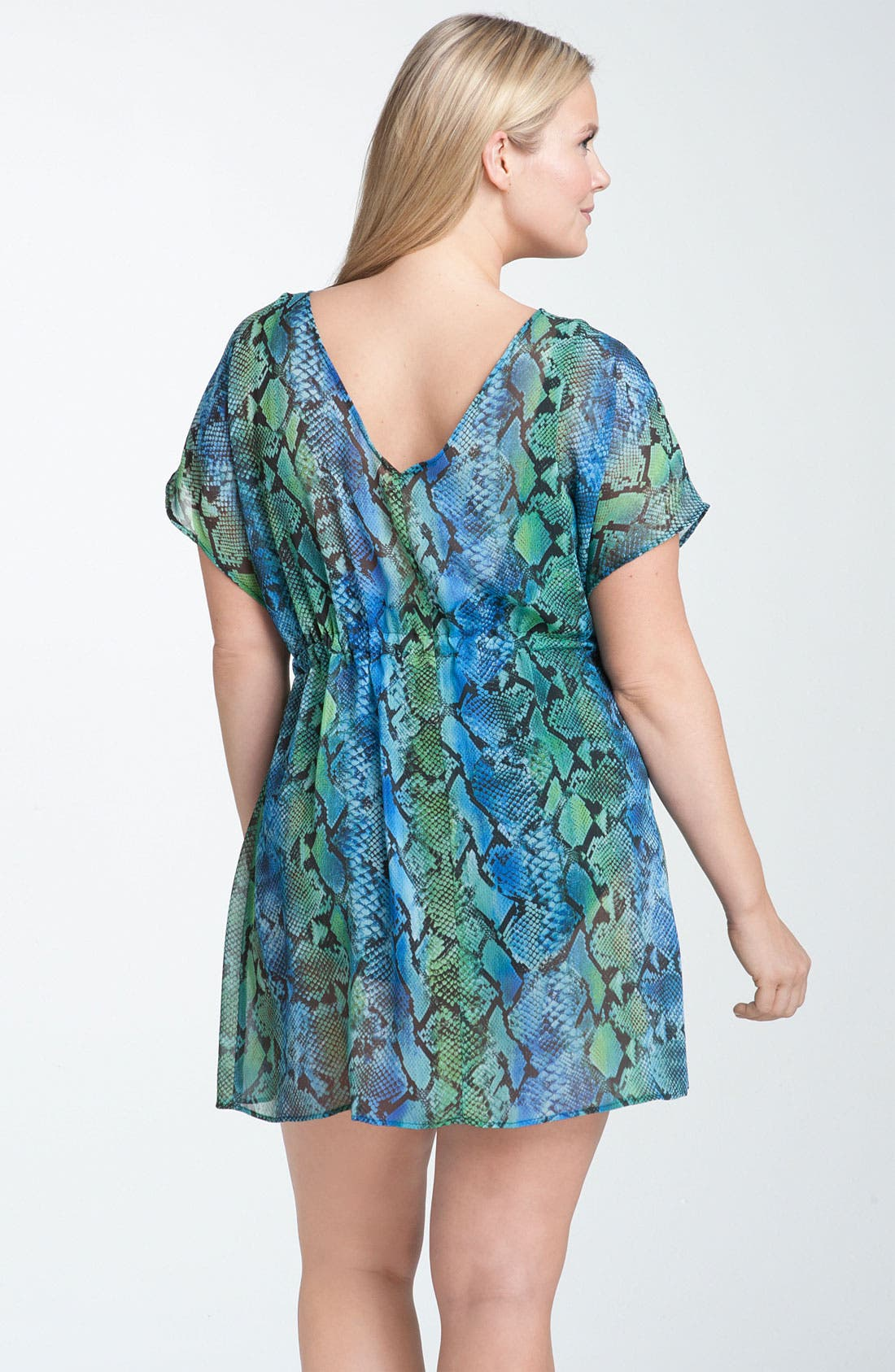 Alternate Image 2  - Becca 'Animal Instincts' Tunic Cover-Up (Plus)