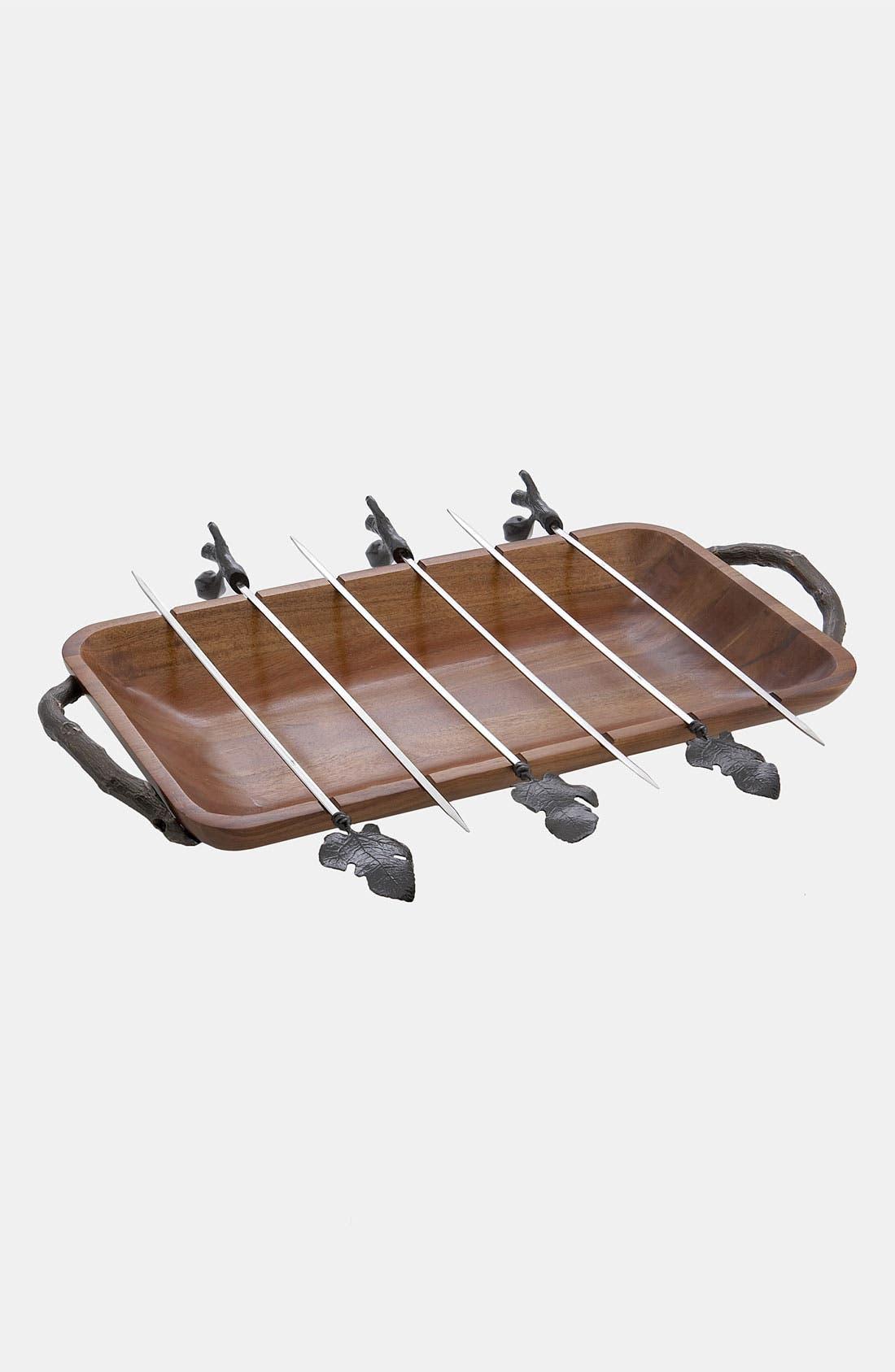 Alternate Image 1 Selected - Michael Aram 'Fig Leaf' Grilling Platter Set