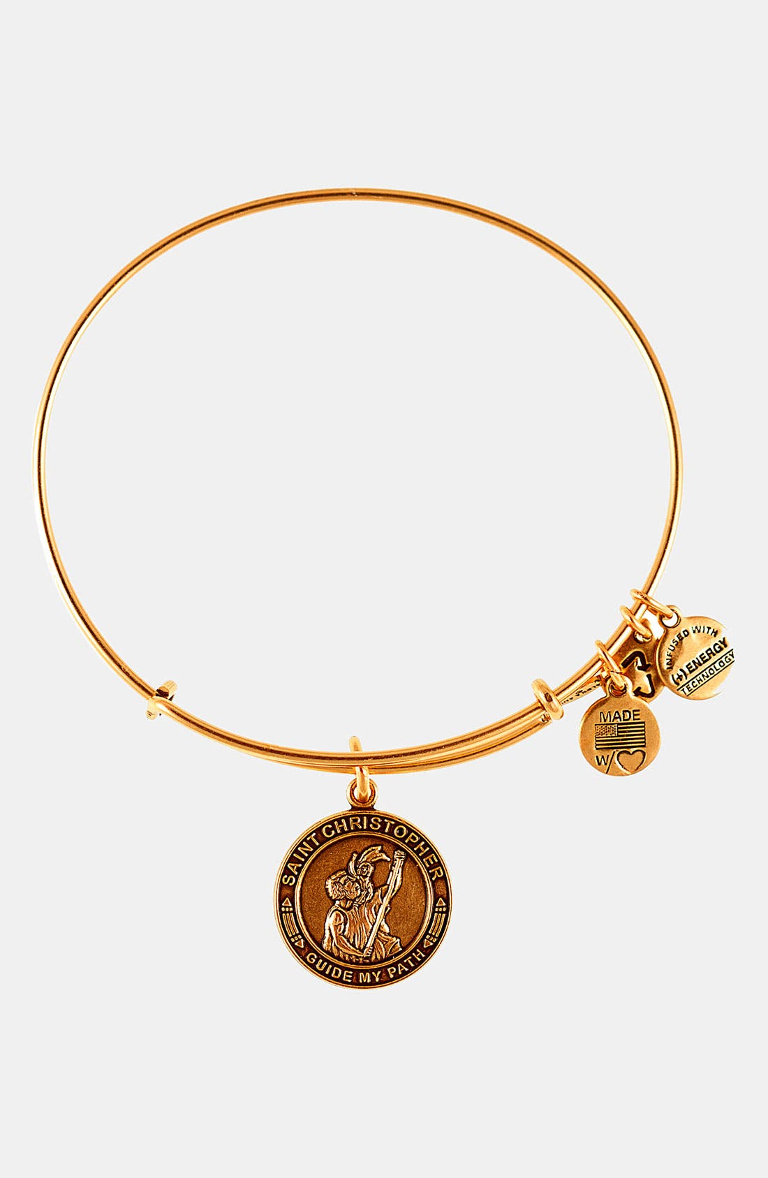 Alternate Image 1 Selected - Alex and Ani 'St. Christopher' Wire Bangle