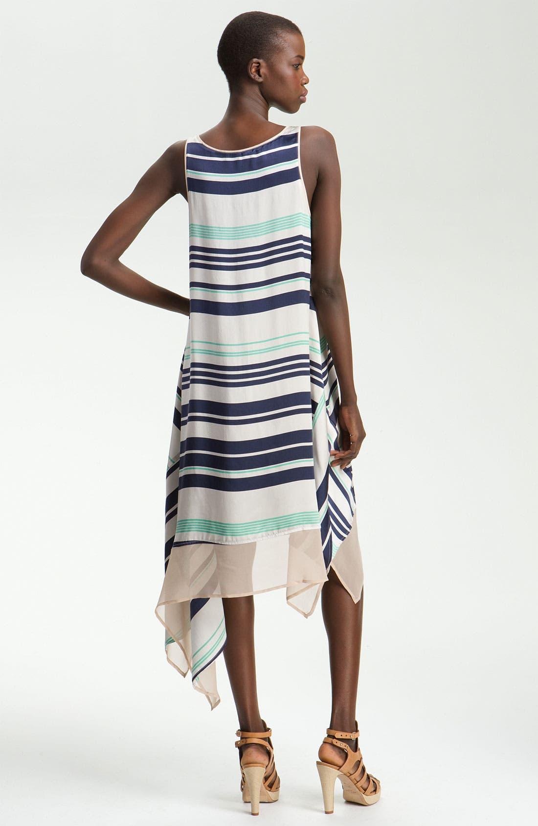 Alternate Image 2  - Elizabeth and James 'Adrienne' Striped Silk Dress